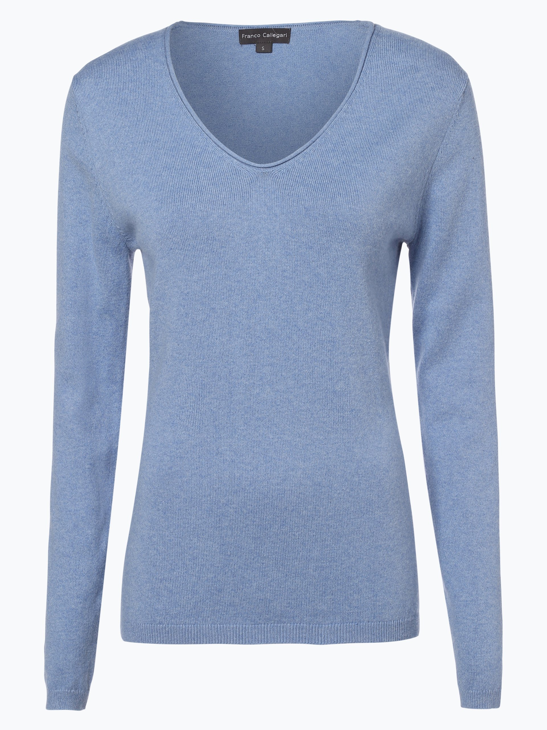 franco callegari damen pullover mit cashmere anteil blau. Black Bedroom Furniture Sets. Home Design Ideas
