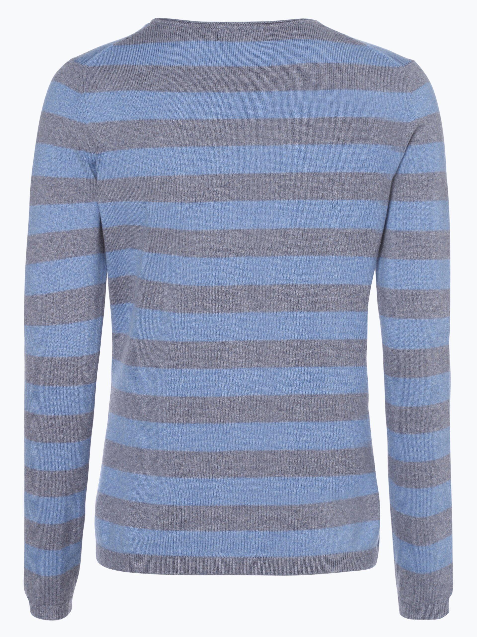 franco callegari damen pullover mit cashmere anteil grau hellblau gestreift online kaufen peek. Black Bedroom Furniture Sets. Home Design Ideas