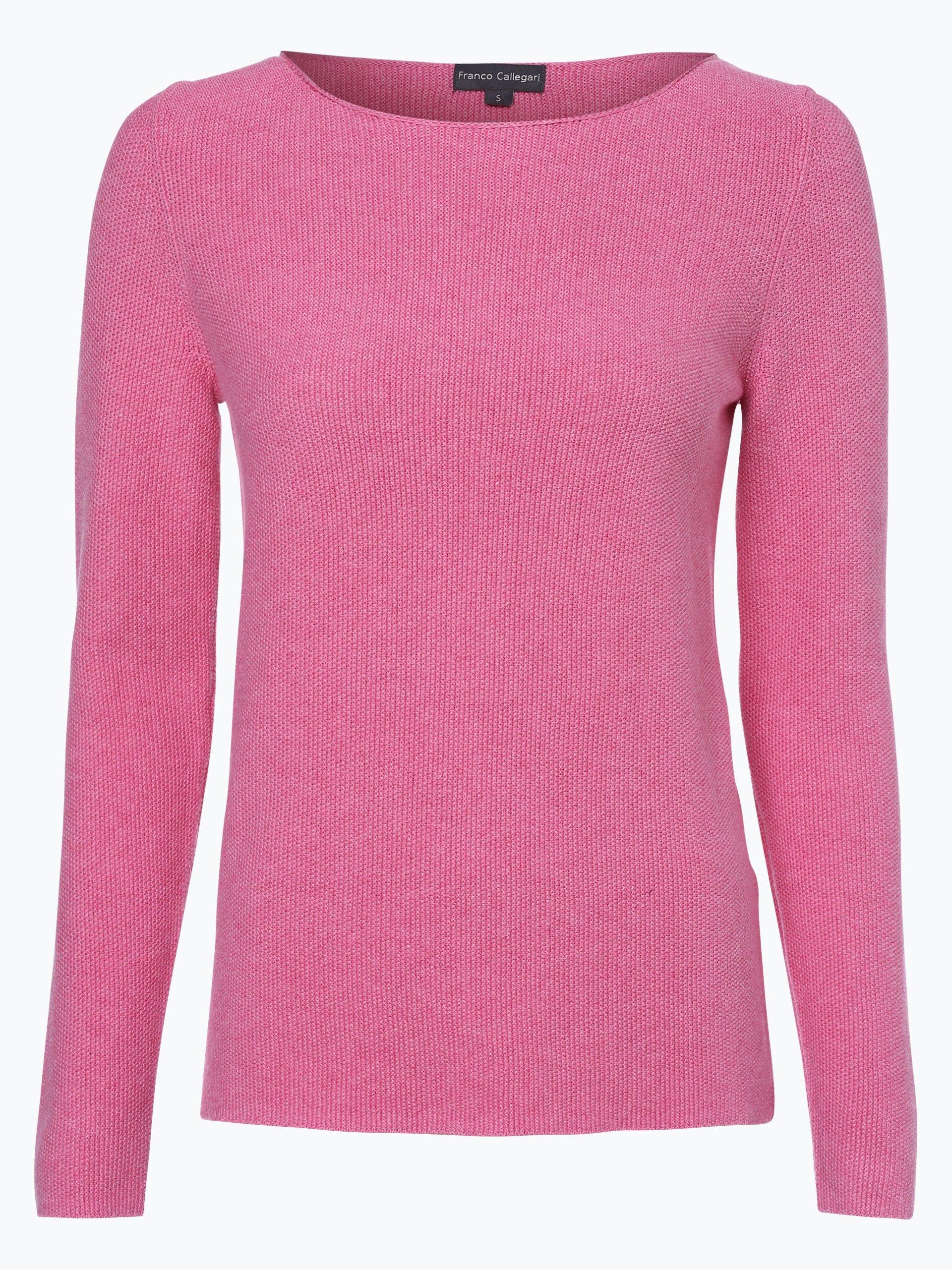 franco callegari damen pullover pink uni online kaufen. Black Bedroom Furniture Sets. Home Design Ideas
