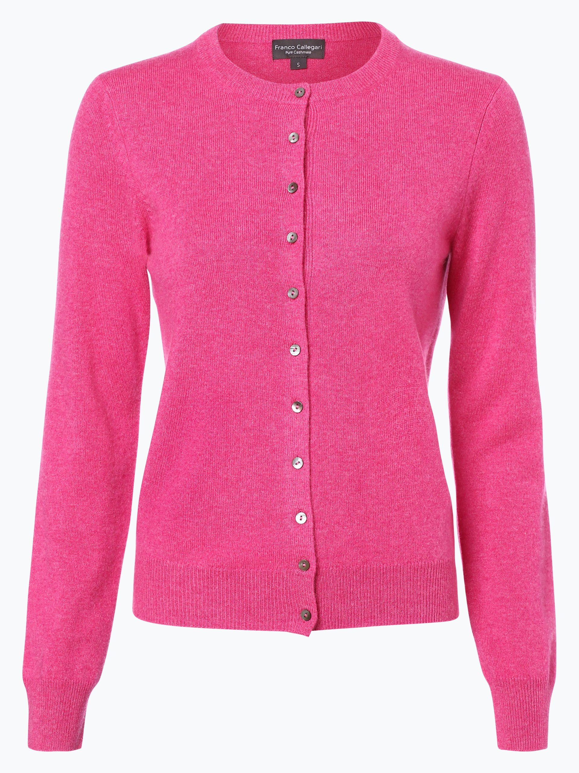 franco callegari damen pure cashmere strickjacke pink uni online kaufen peek und cloppenburg de. Black Bedroom Furniture Sets. Home Design Ideas