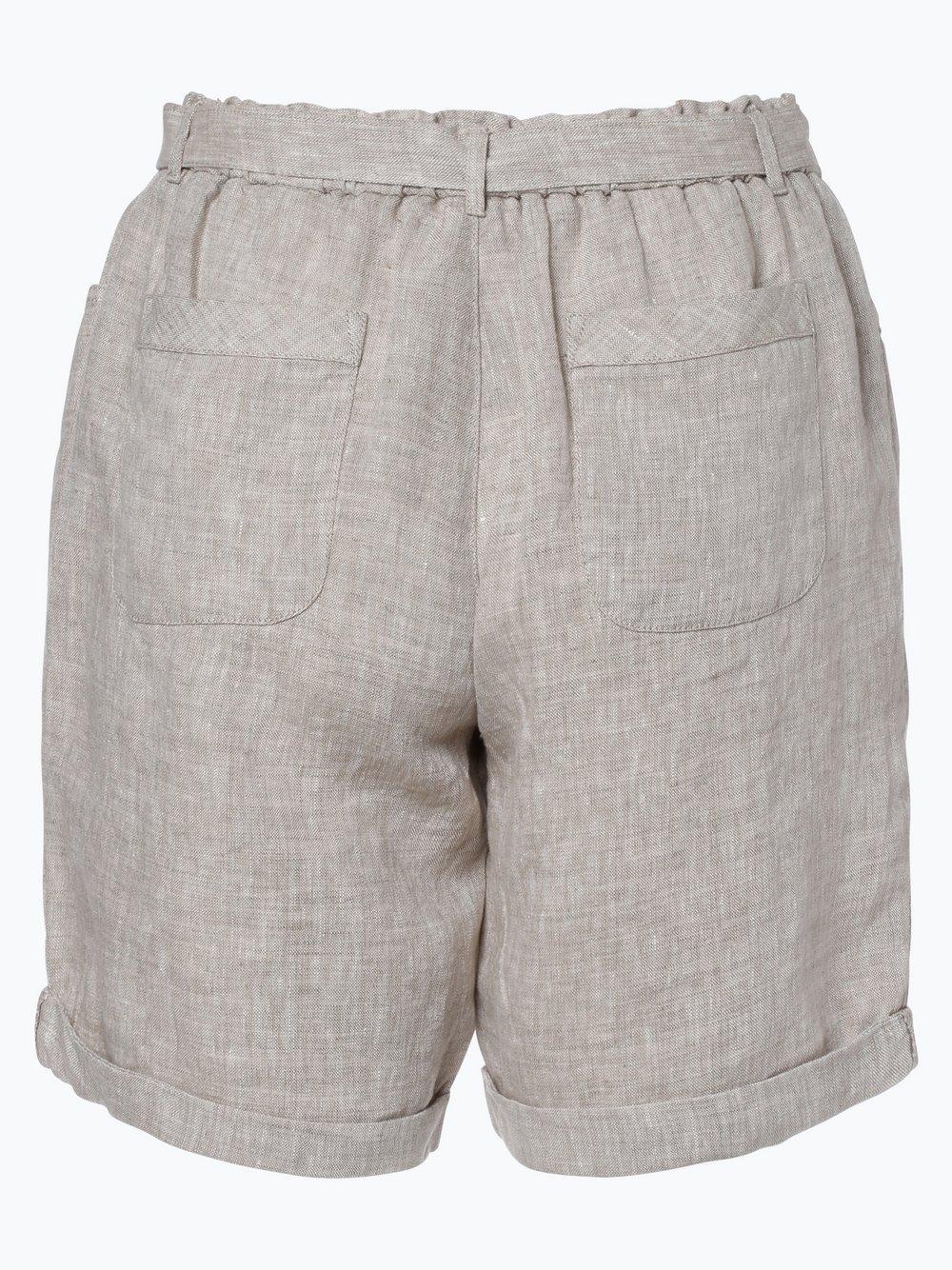 Damen Shorts aus Leinen beige Franco Callegari