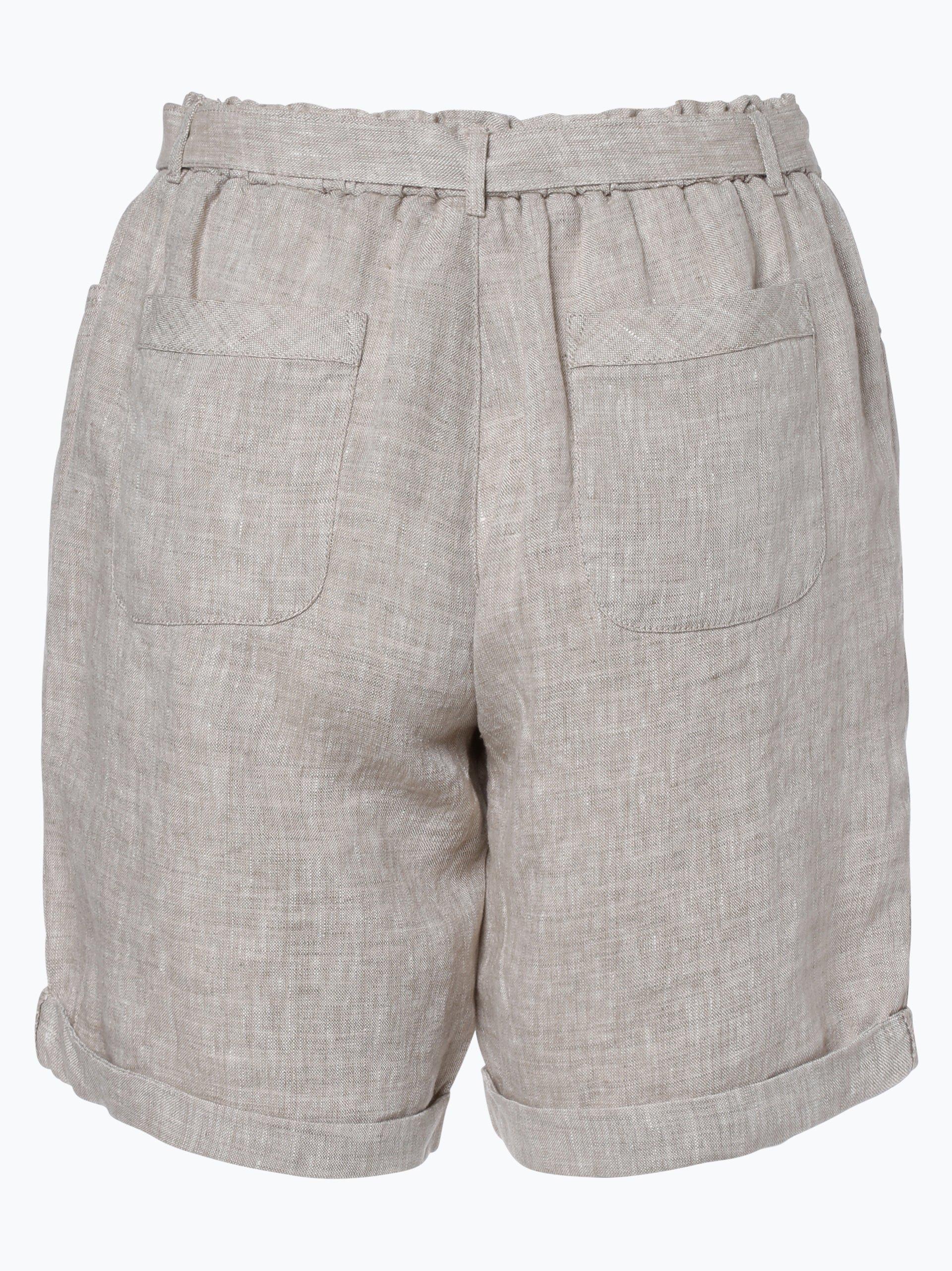 franco callegari damen shorts aus leinen sand meliert online kaufen peek und cloppenburg de. Black Bedroom Furniture Sets. Home Design Ideas