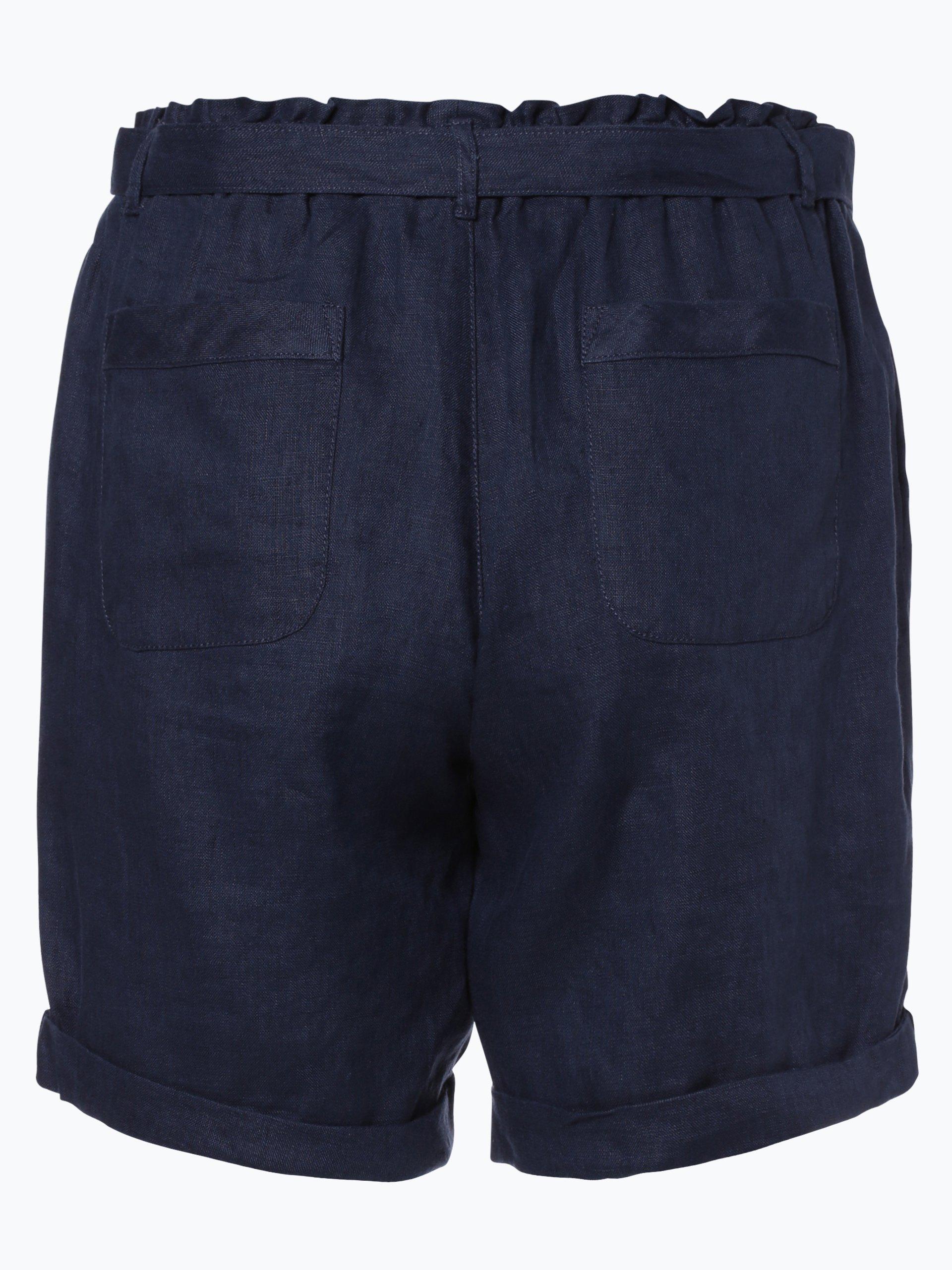 franco callegari damen shorts aus leinen marine meliert online kaufen vangraaf com. Black Bedroom Furniture Sets. Home Design Ideas