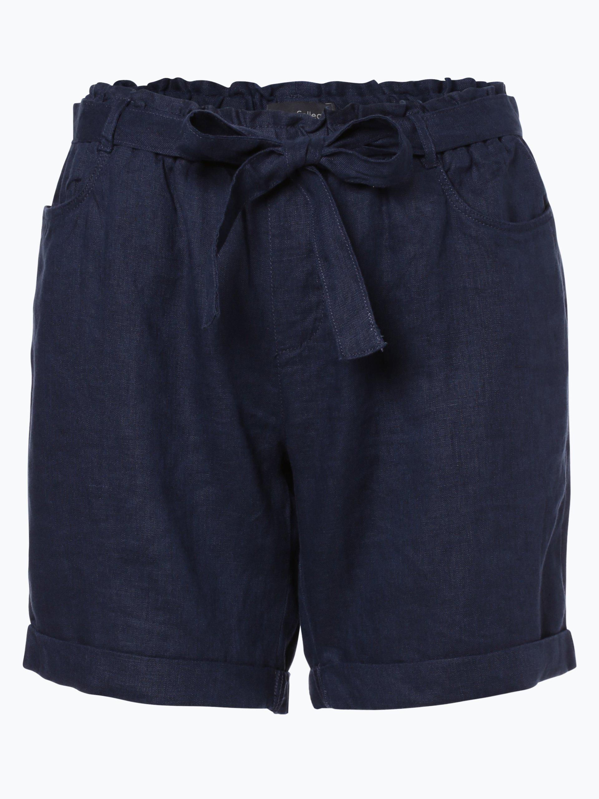 Damen Shorts aus Leinen grau Franco Callegari WkGk6JgvH9