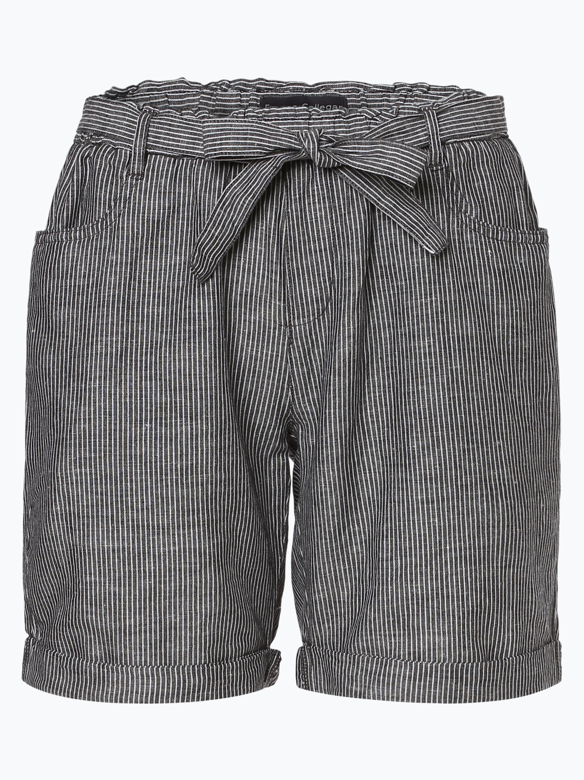 Franco Callegari Damen Shorts mit Leinen-Anteil