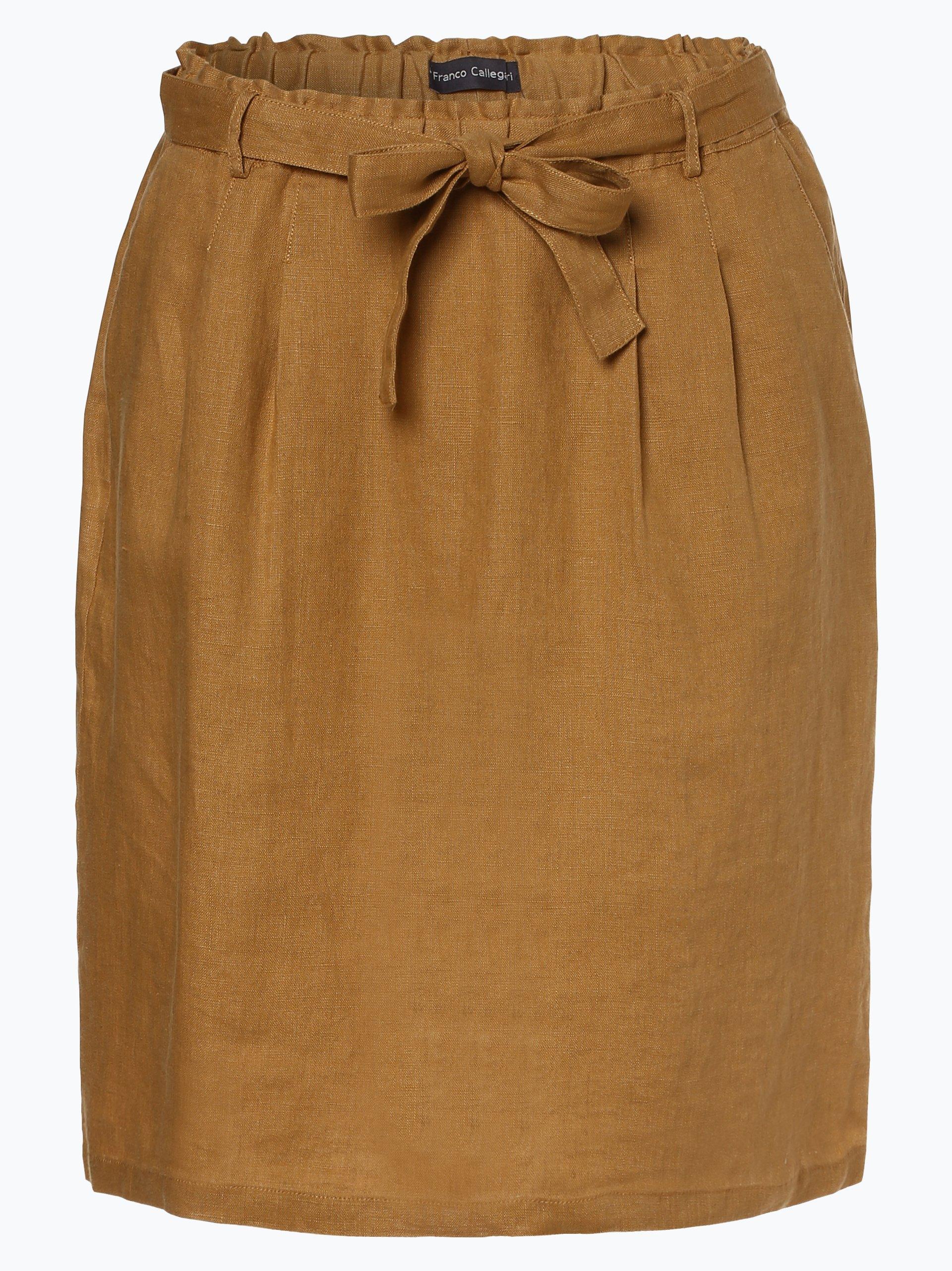 Franco Callegari Damska spódnica lniana