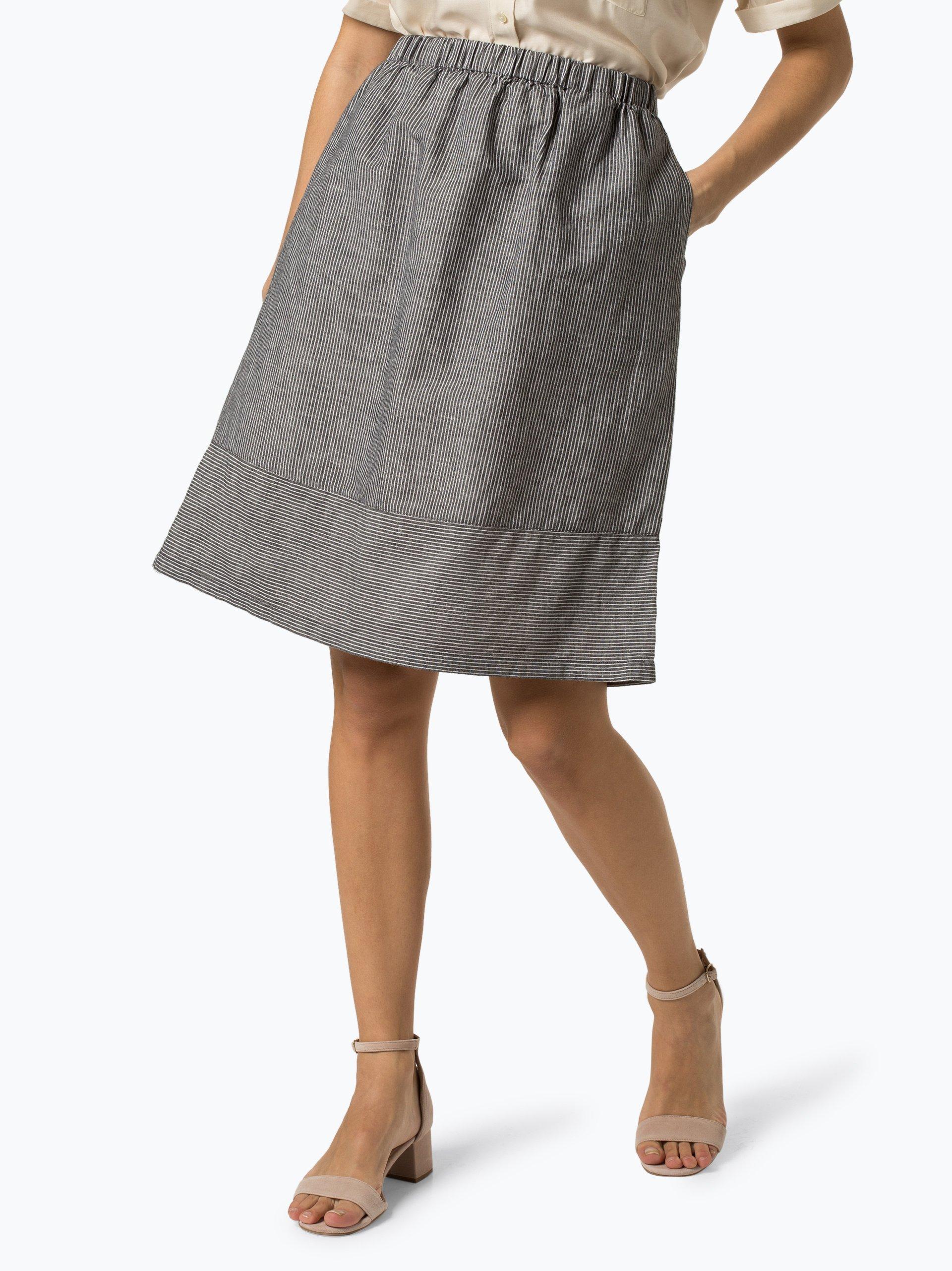 Franco Callegari Spódnica damska z dodatkiem lnu