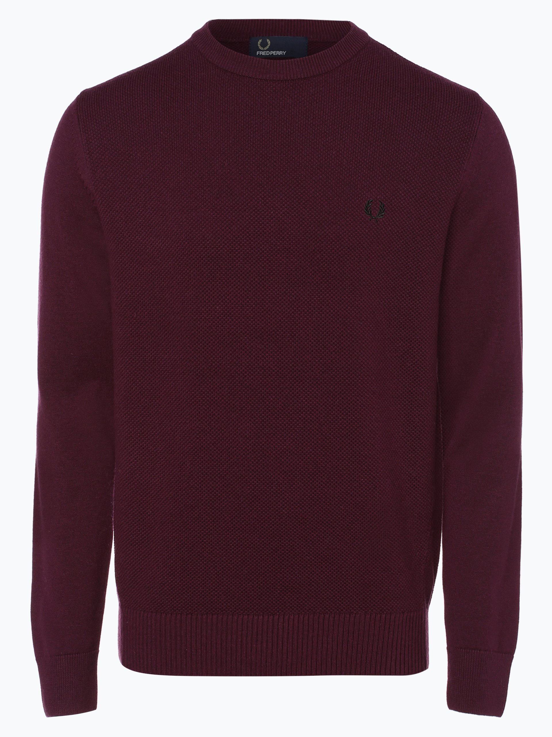 fred perry herren pullover aubergine uni online kaufen. Black Bedroom Furniture Sets. Home Design Ideas