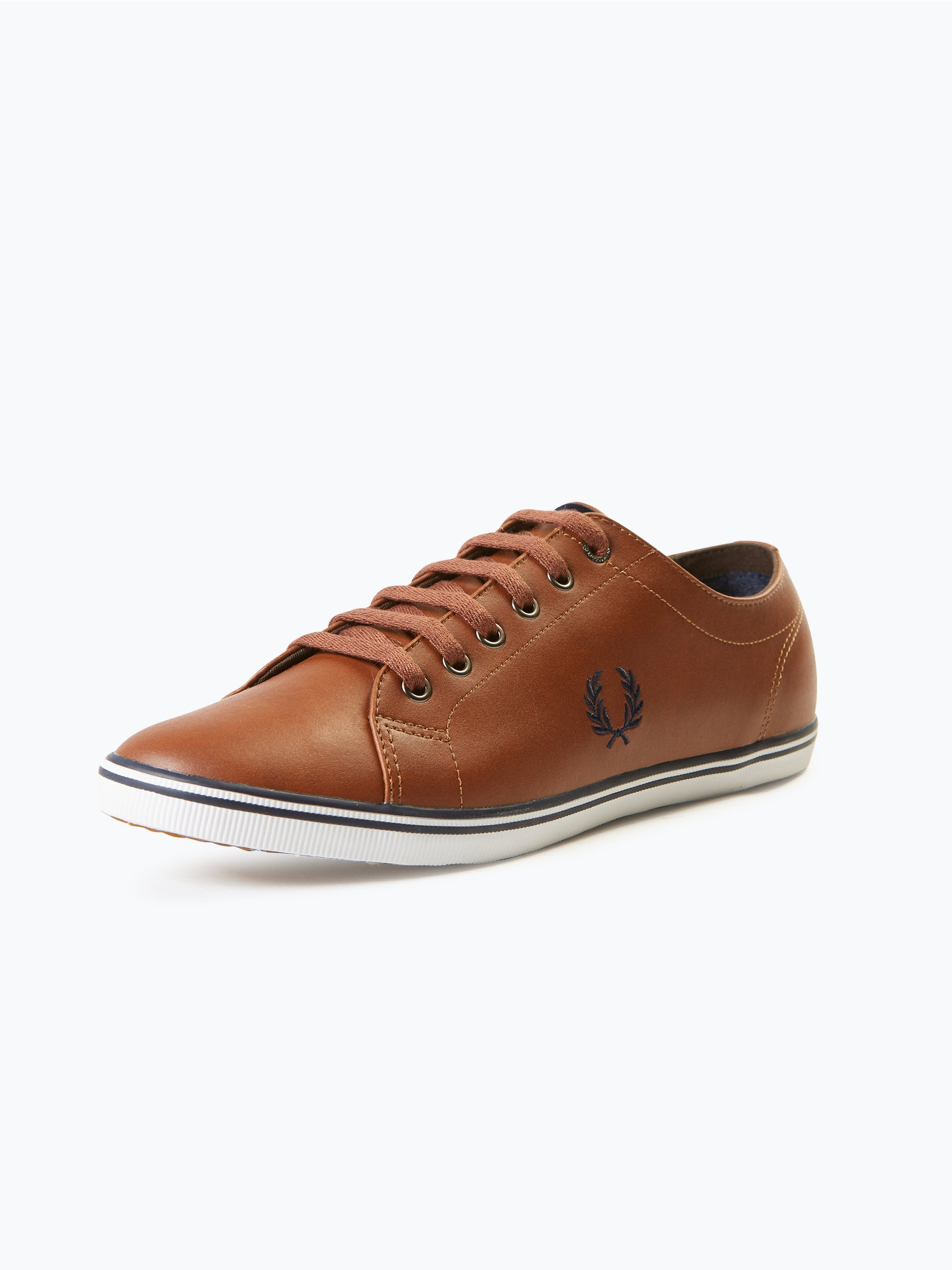 fred perry herren sneaker aus leder kingston cognac uni. Black Bedroom Furniture Sets. Home Design Ideas