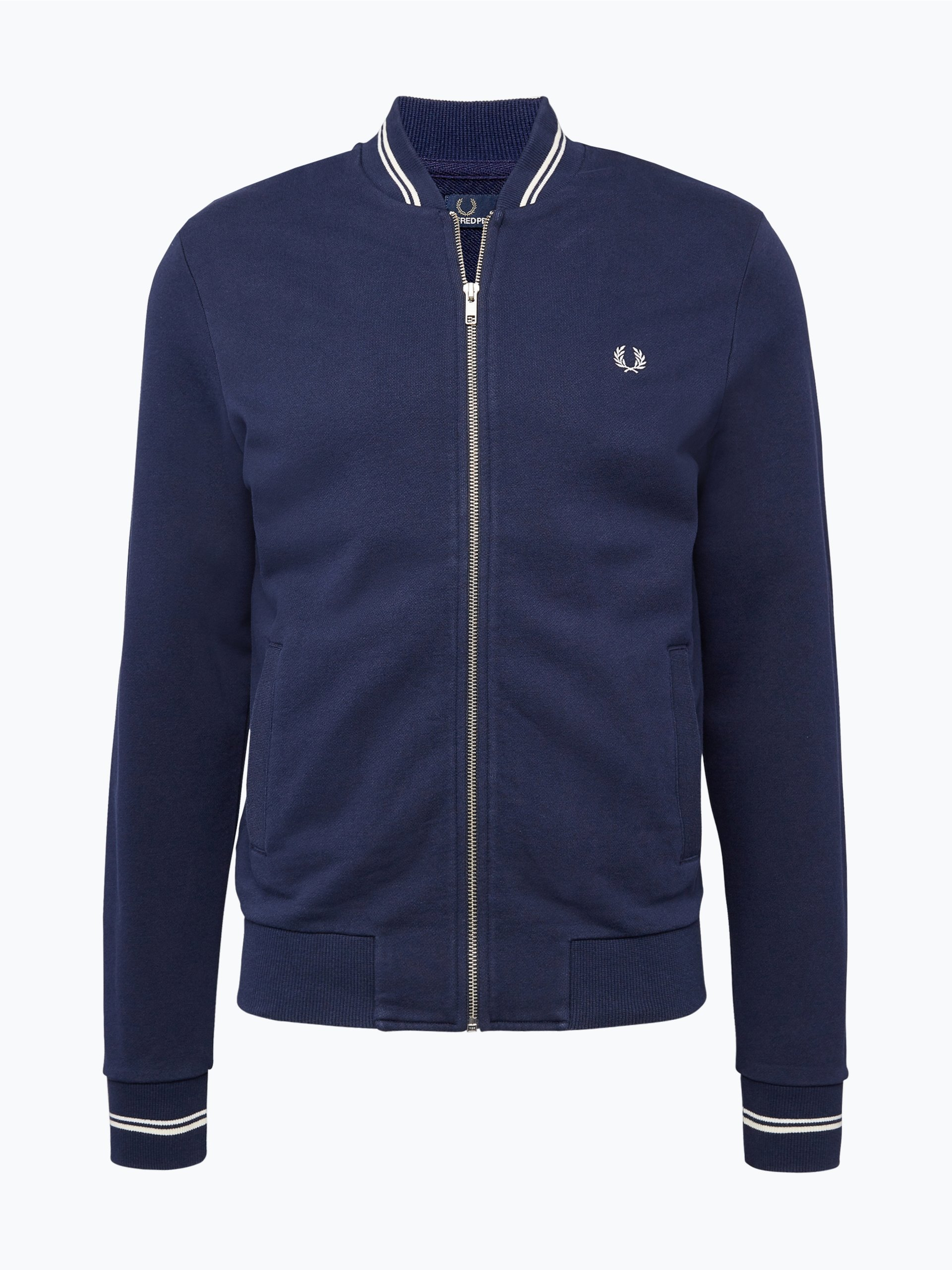fred perry herren sweatjacke indigo uni online kaufen peek und. Black Bedroom Furniture Sets. Home Design Ideas