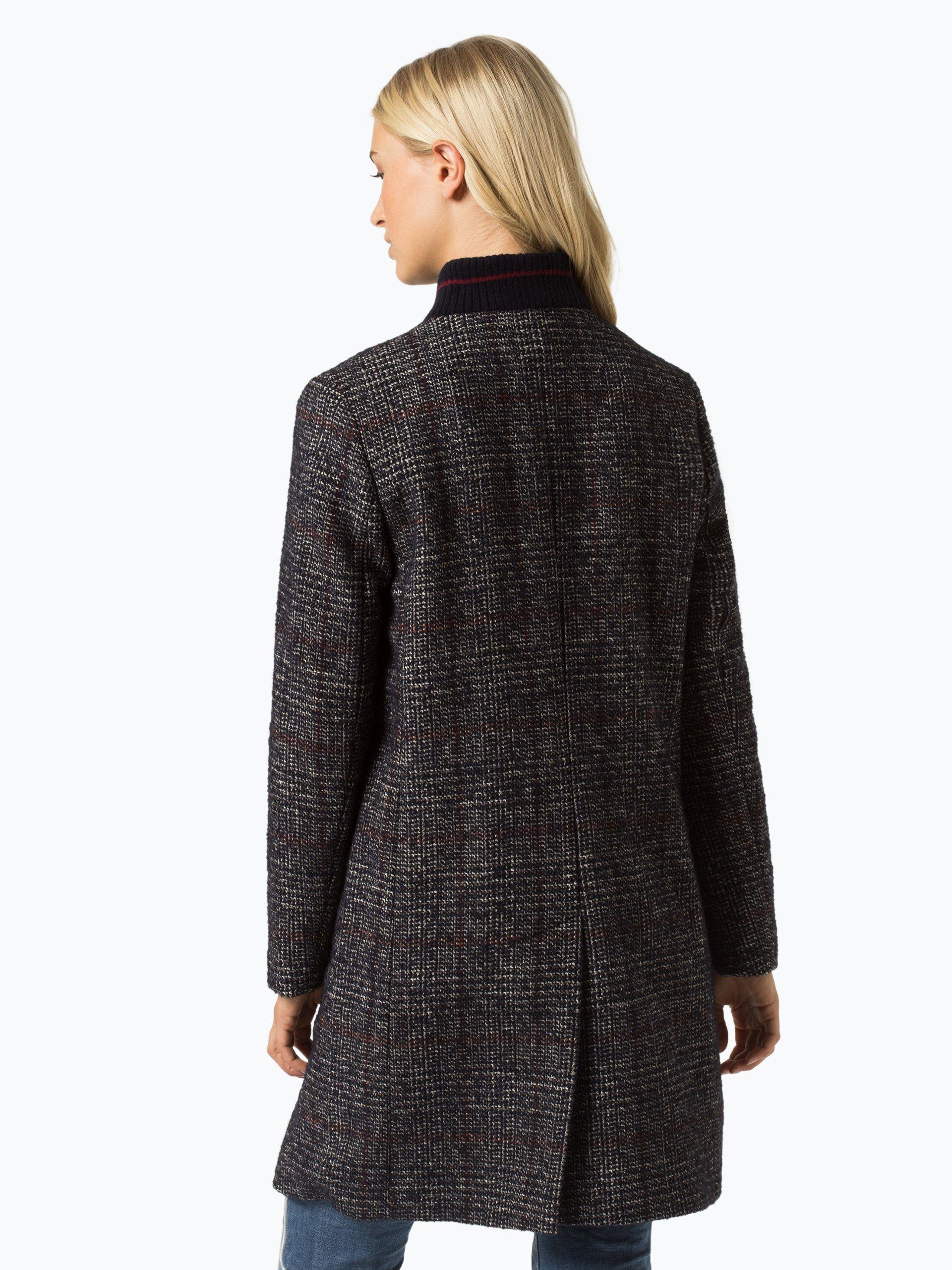 fuchs schmitt damen mantel mit alpaka und cashmere anteil marine kariert online kaufen peek. Black Bedroom Furniture Sets. Home Design Ideas
