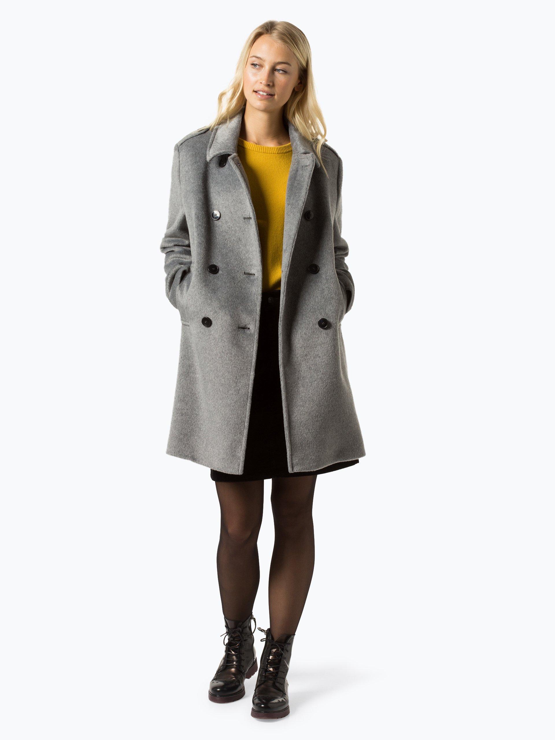 fuchs schmitt damen mantel grau uni online kaufen peek und cloppenburg de. Black Bedroom Furniture Sets. Home Design Ideas