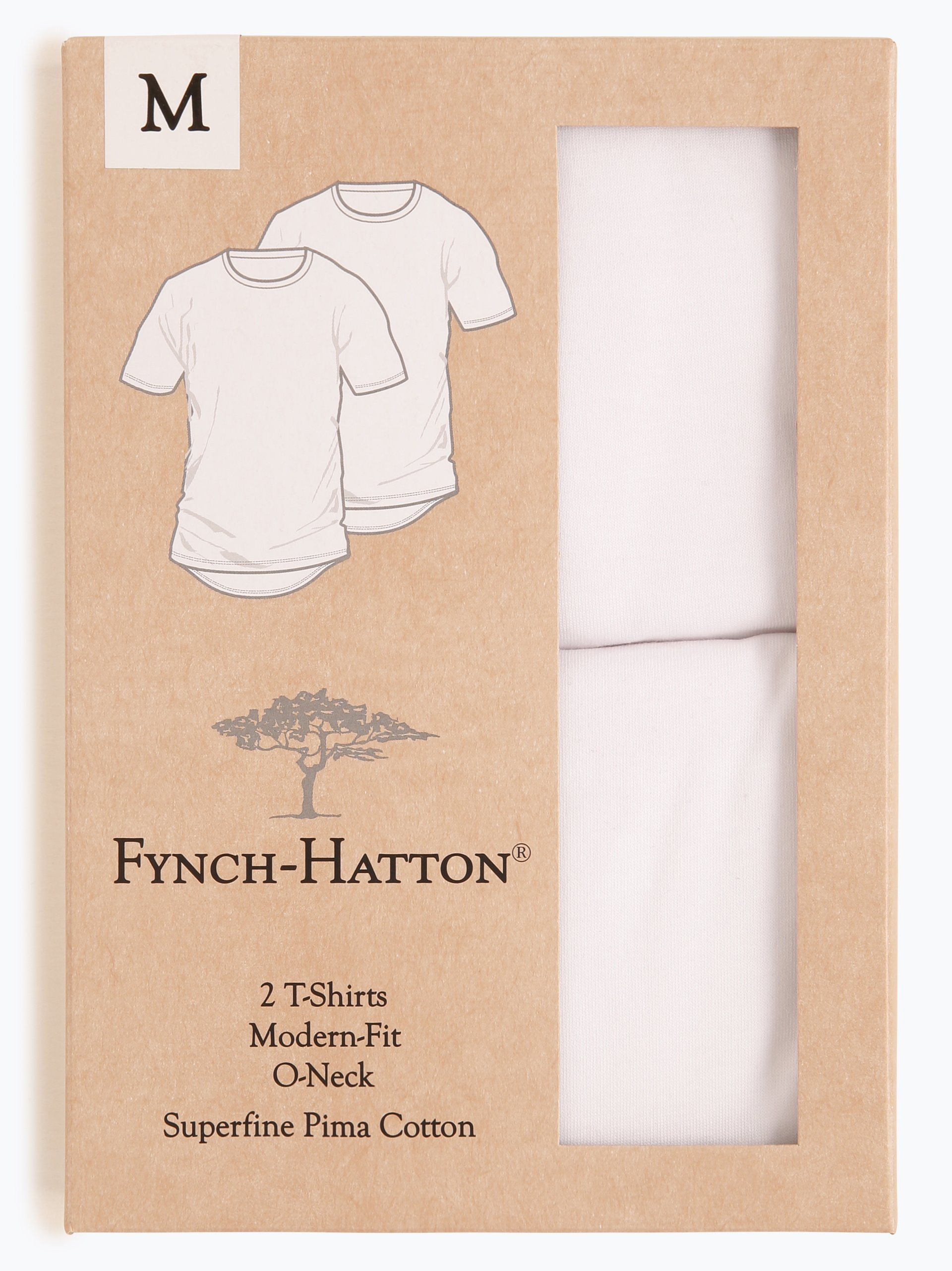 Fynch Hatton Herren T-Shirt im 2er-Pack