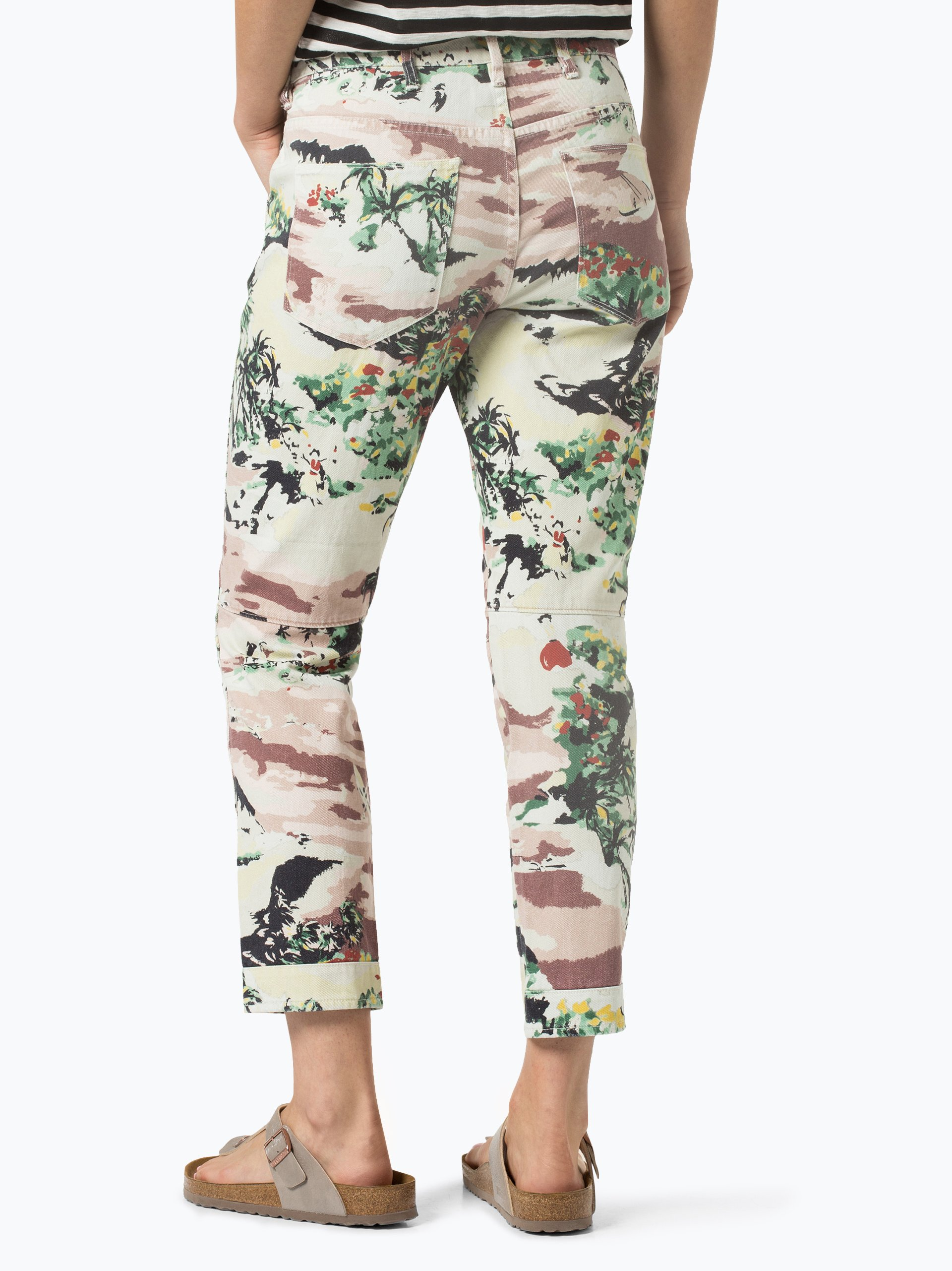 g star damen jeans elwood wei mehrfarbig gemustert. Black Bedroom Furniture Sets. Home Design Ideas