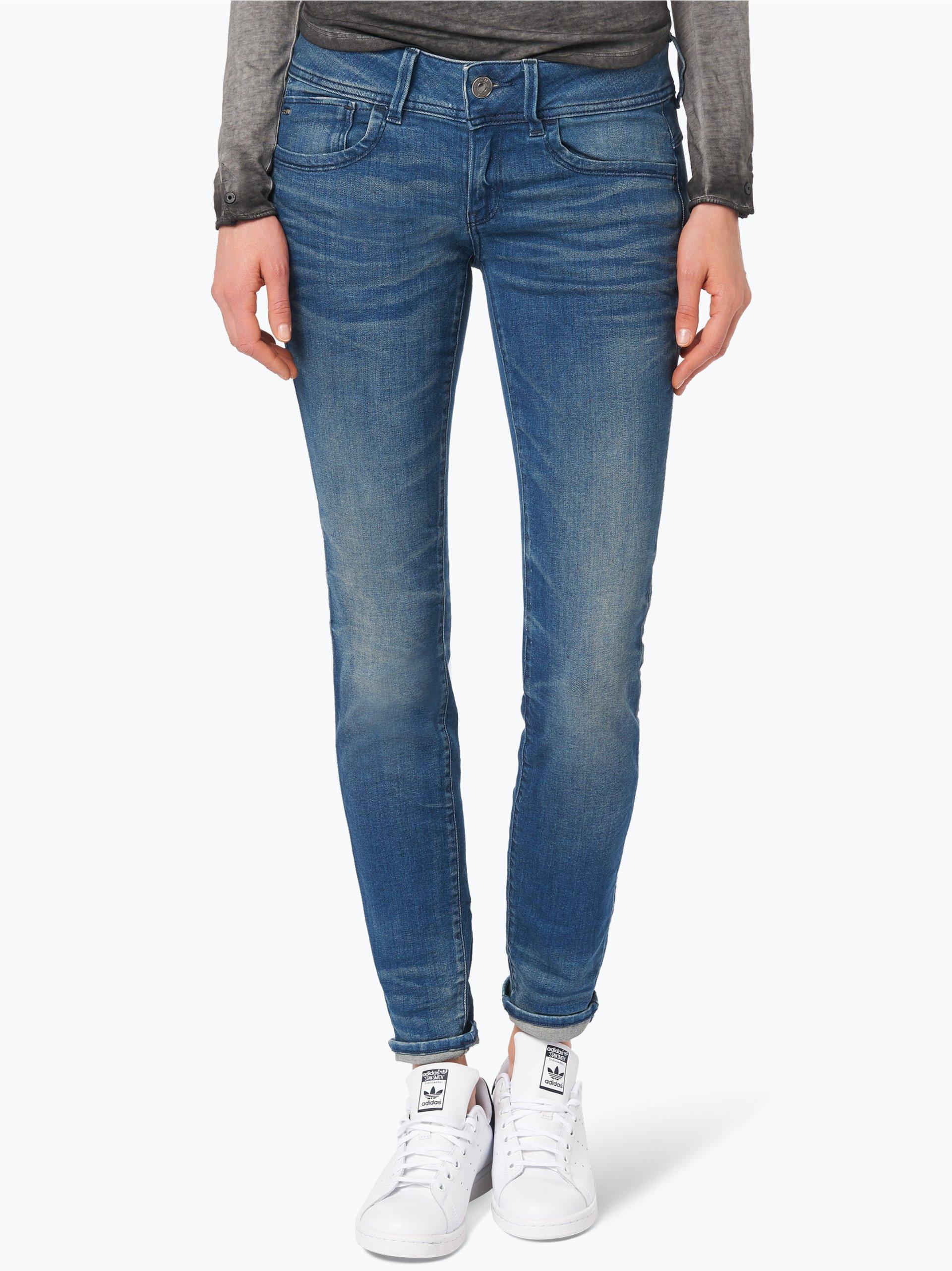 g star damen jeans lynn blau uni online kaufen peek. Black Bedroom Furniture Sets. Home Design Ideas