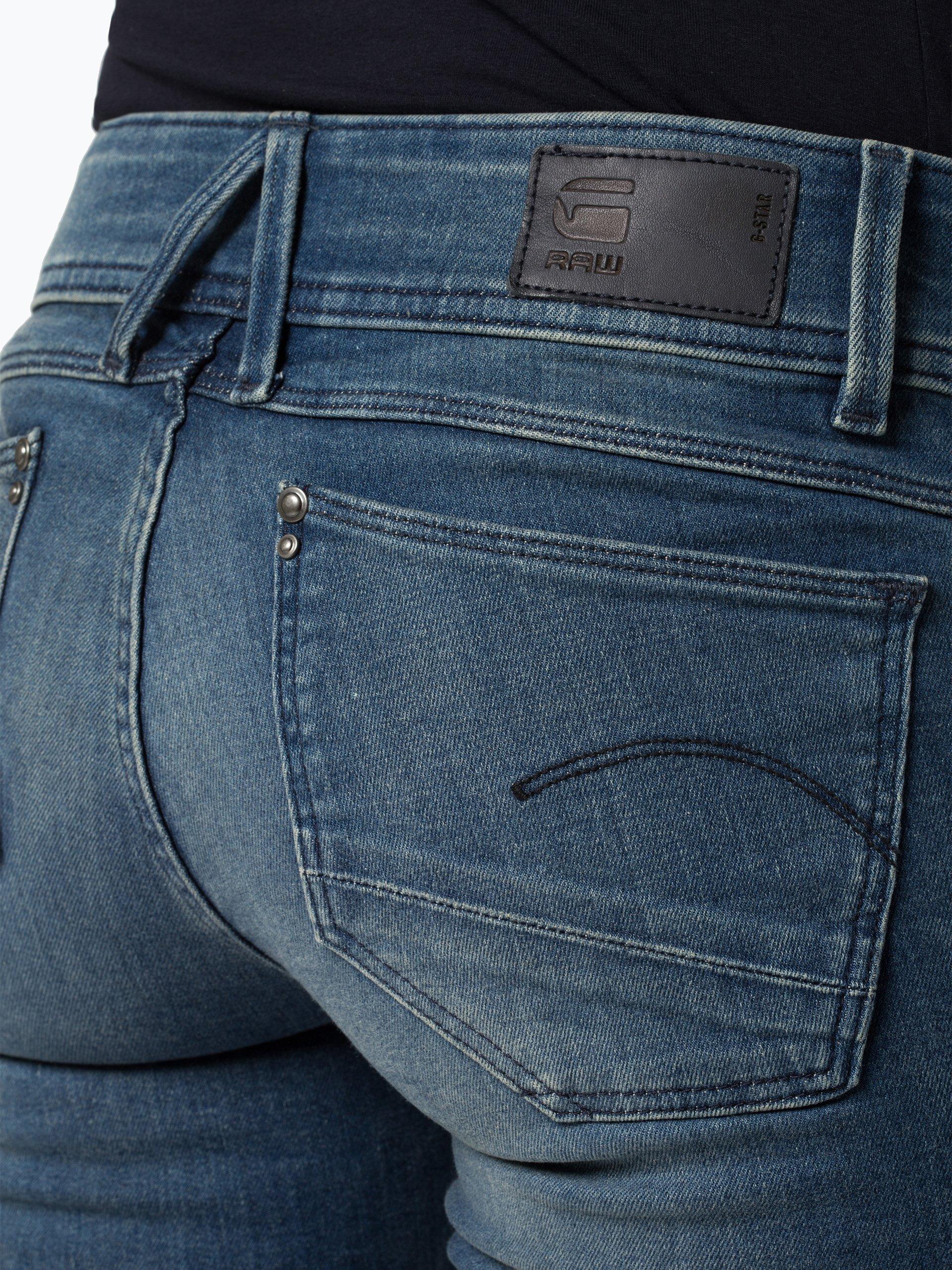 g star damen jeans lynn mehrfarbig blau uni online. Black Bedroom Furniture Sets. Home Design Ideas