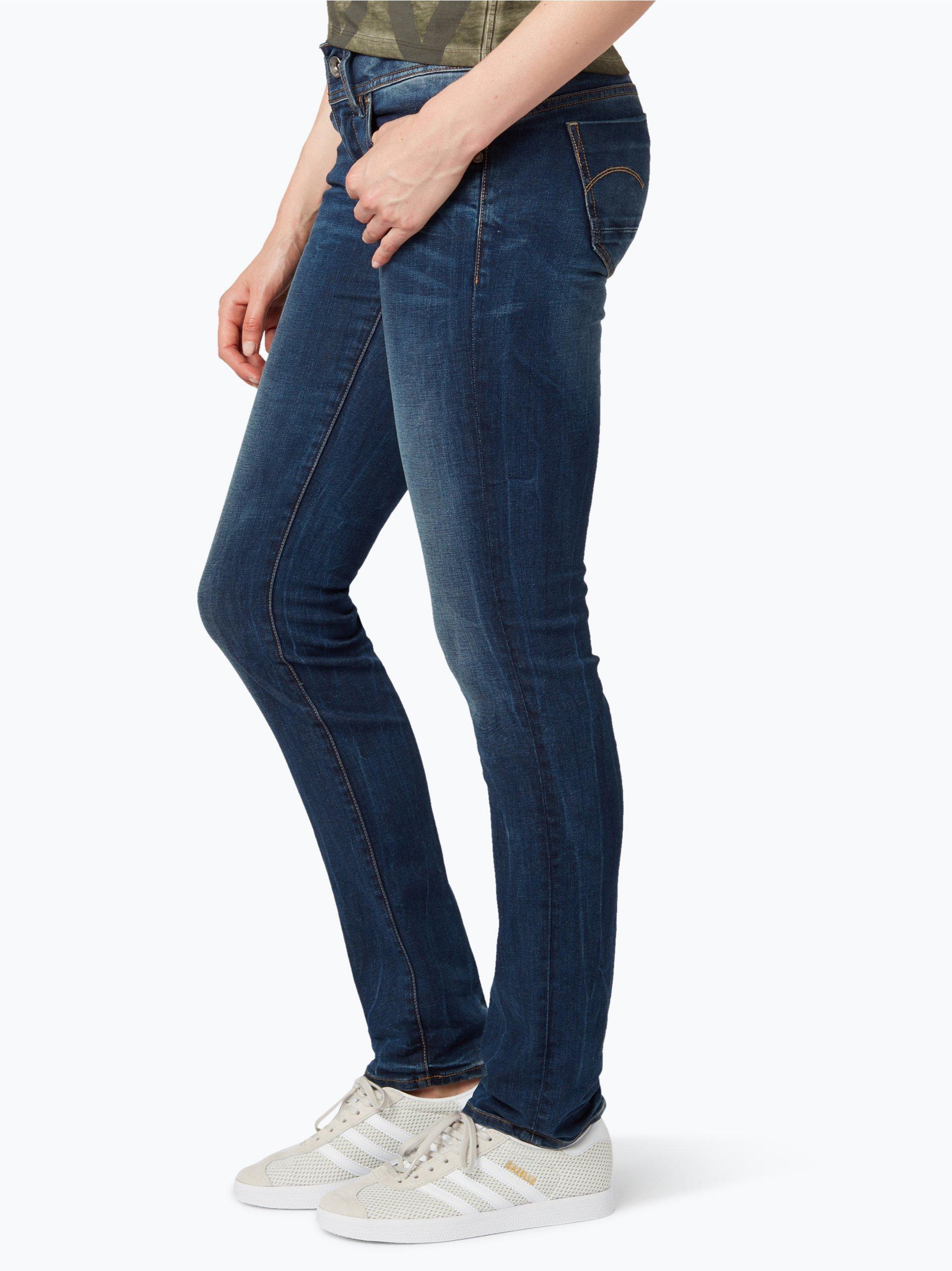 g star damen jeans midge mehrfarbig indigo uni online. Black Bedroom Furniture Sets. Home Design Ideas