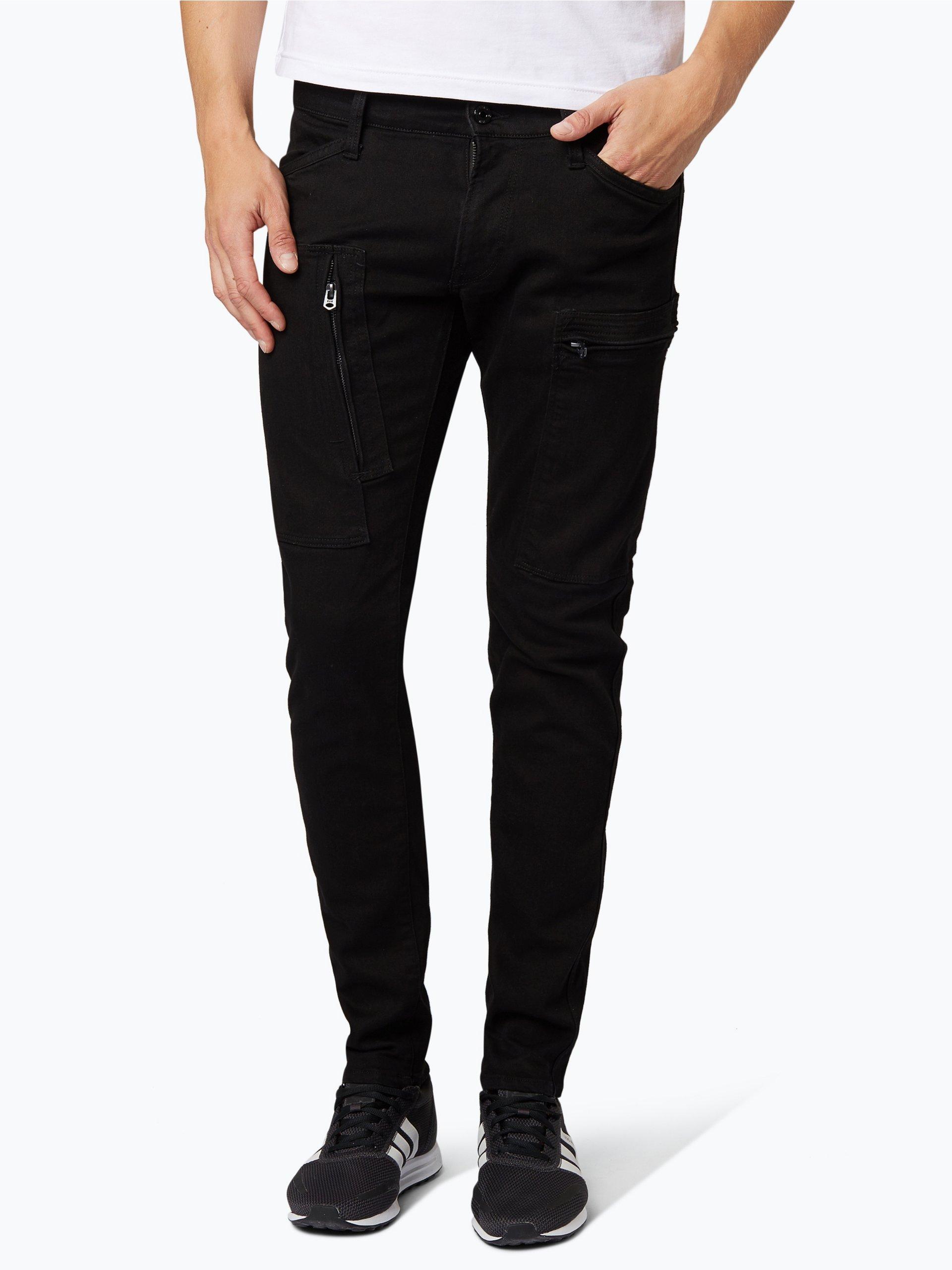 g star herren jeans powel super slim schwarz uni online. Black Bedroom Furniture Sets. Home Design Ideas