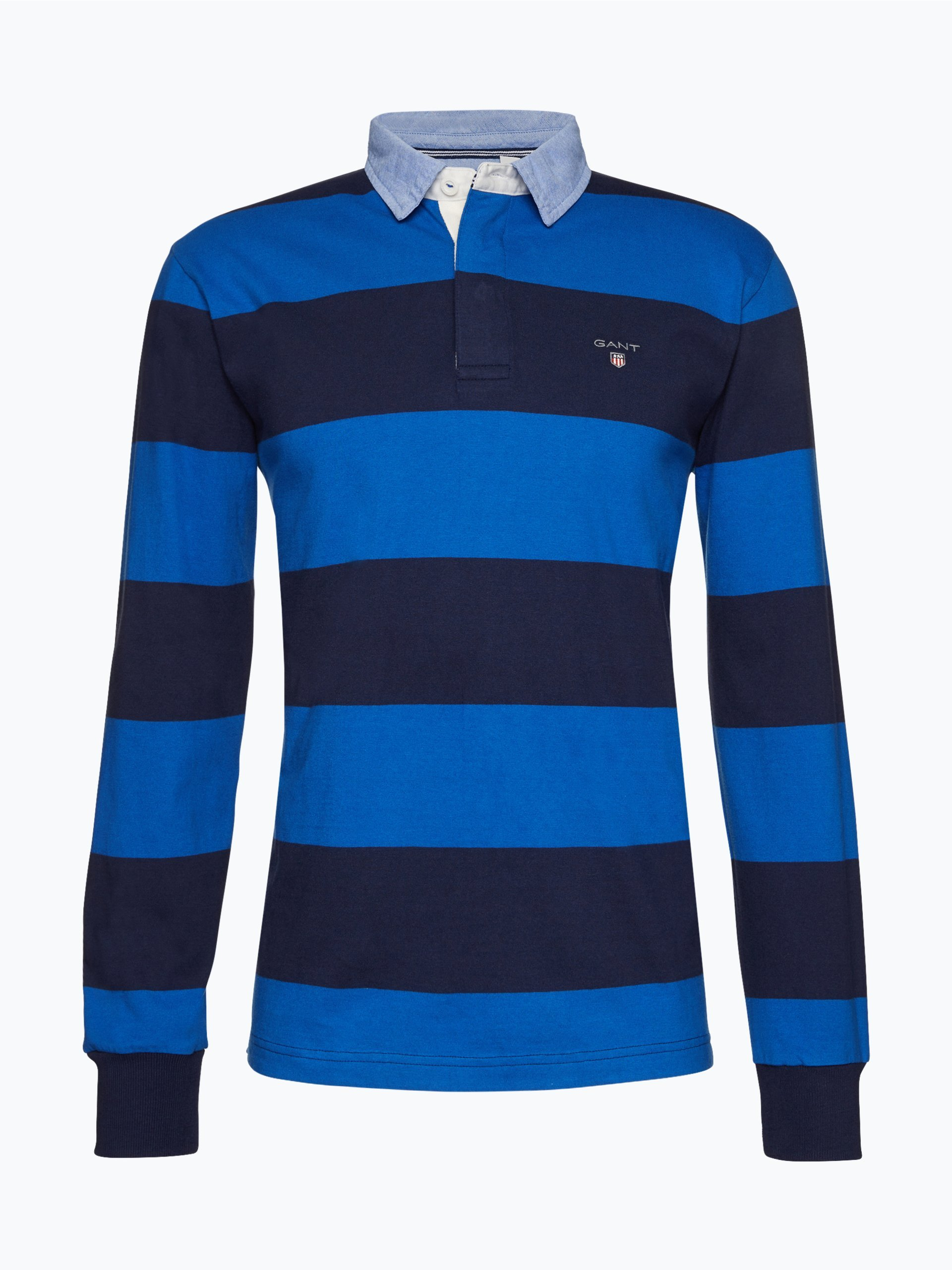 gant herren rugbyshirt royal gestreift online kaufen peek und cloppenburg de. Black Bedroom Furniture Sets. Home Design Ideas