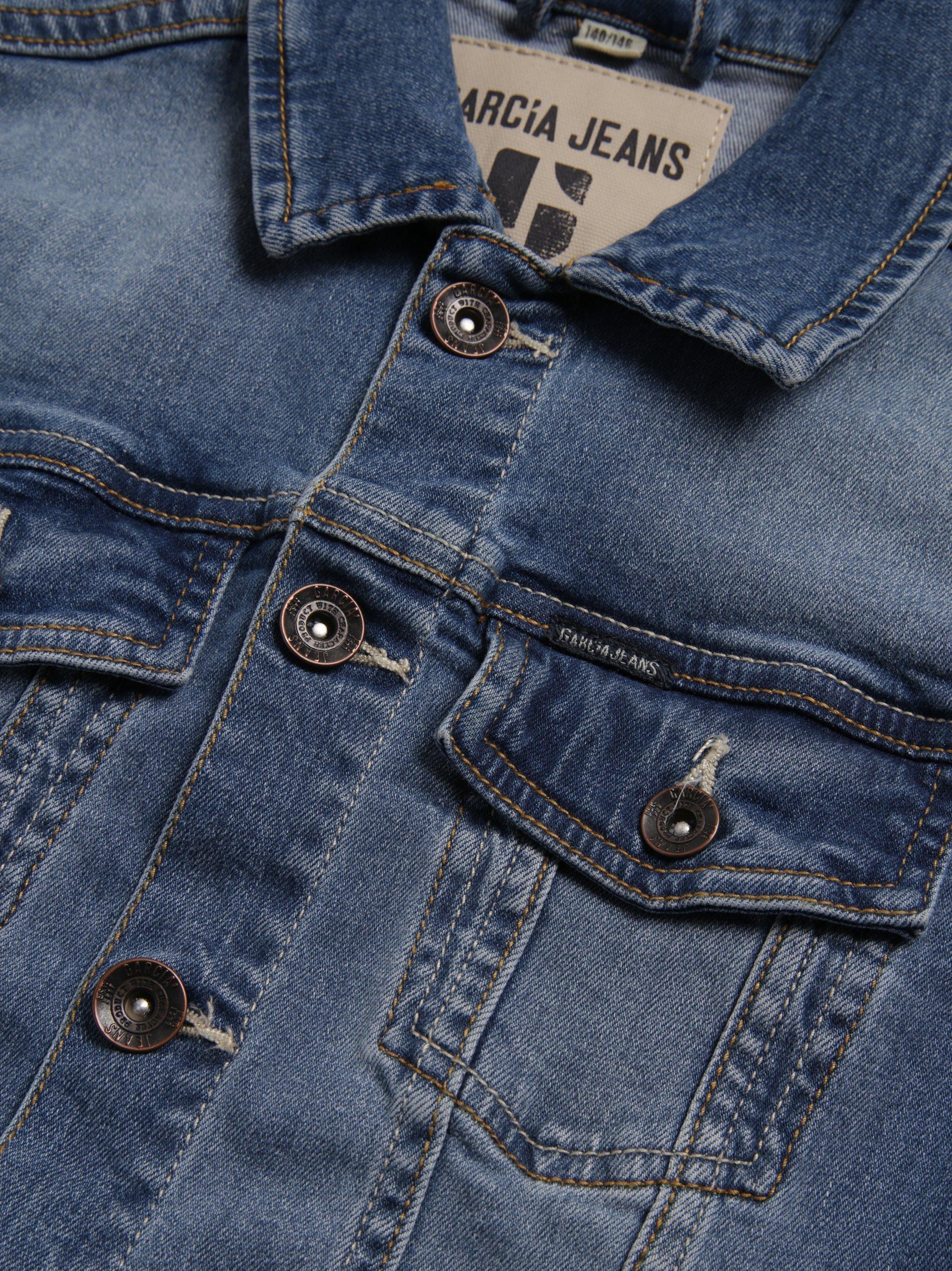 garcia jungen jeansjacke indigo uni online kaufen. Black Bedroom Furniture Sets. Home Design Ideas