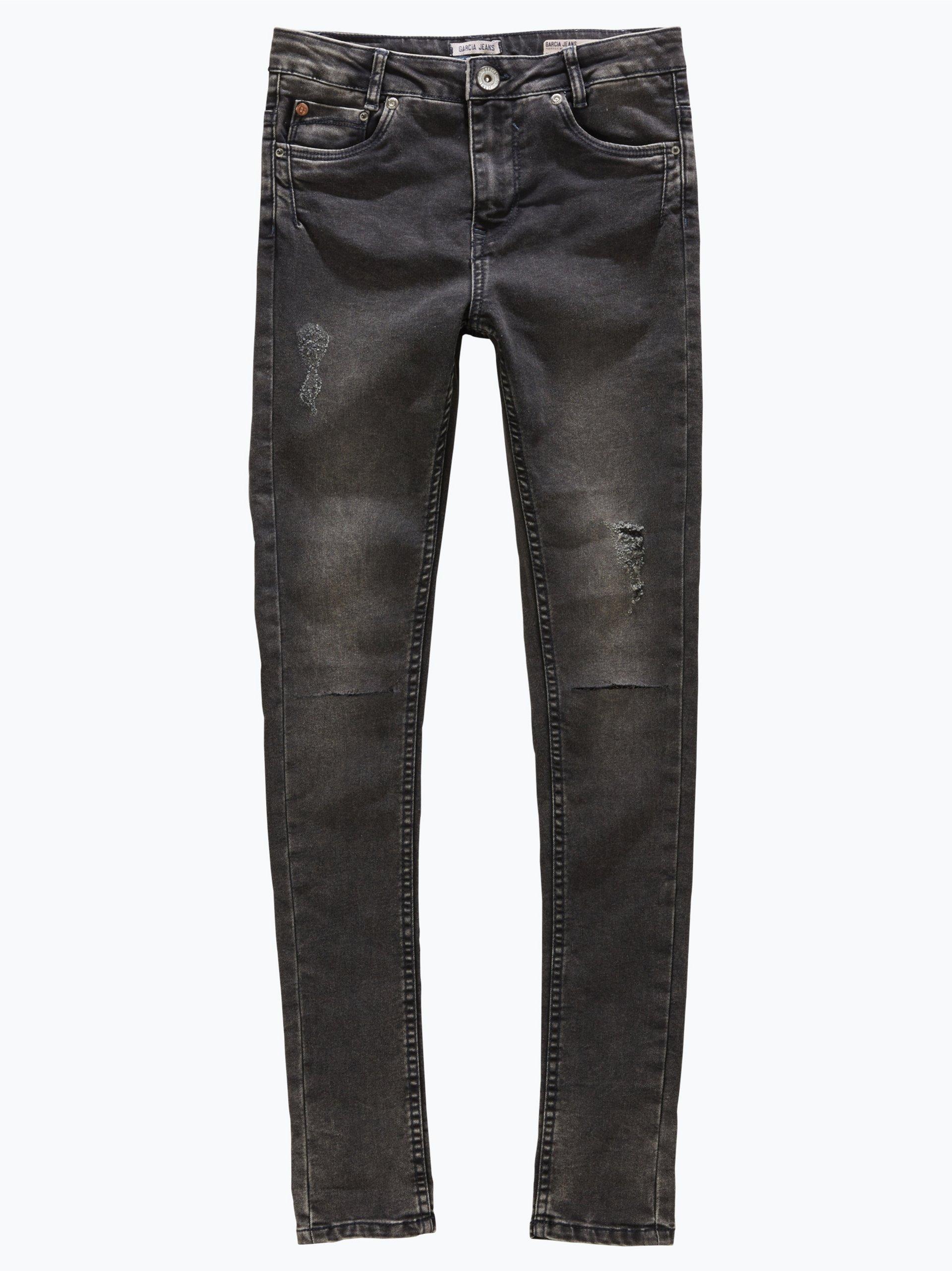 garcia m dchen jeans havanna high waist schwarz uni. Black Bedroom Furniture Sets. Home Design Ideas