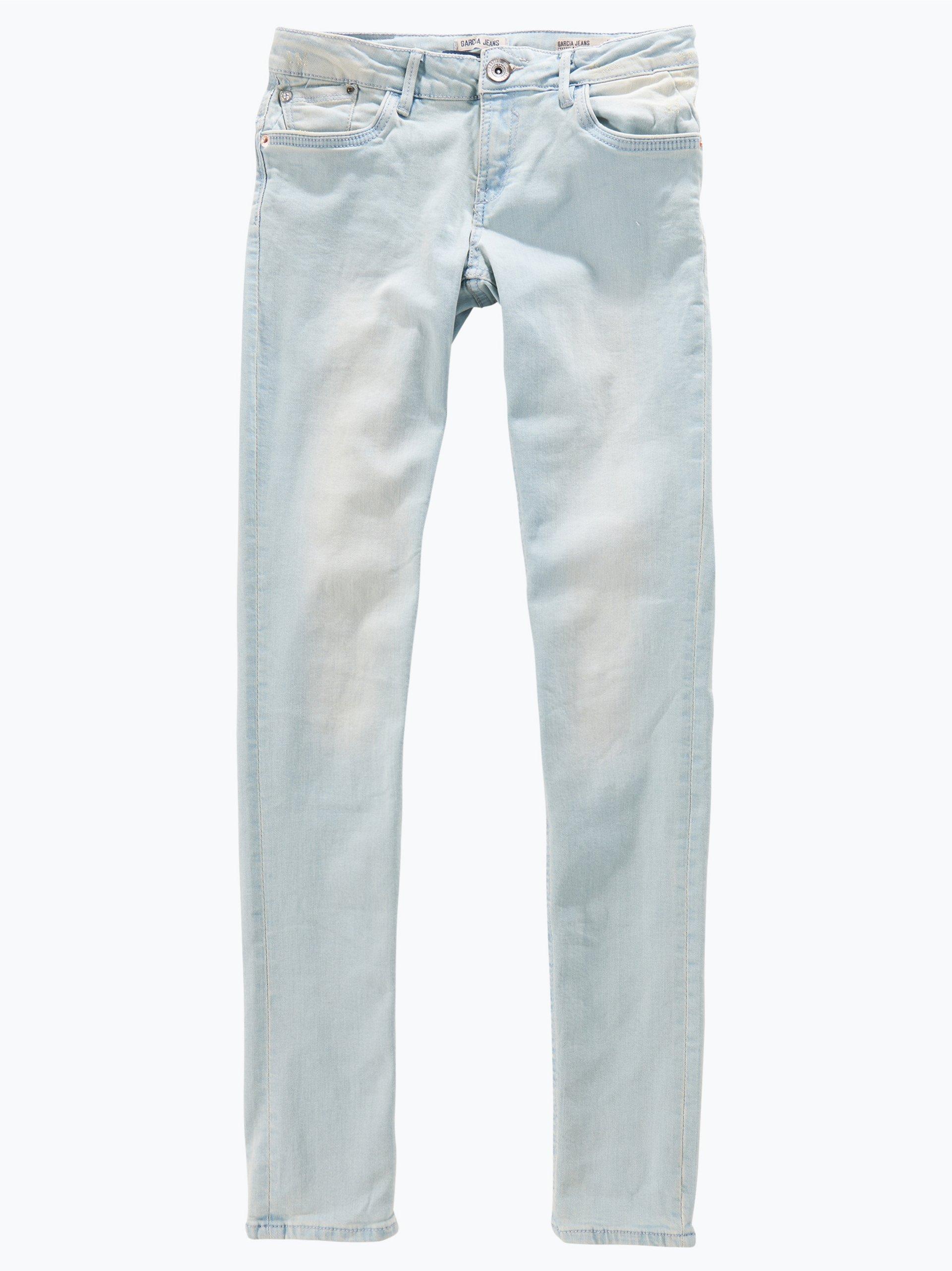 garcia m dchen jeans sara slim bleached hellblau uni. Black Bedroom Furniture Sets. Home Design Ideas