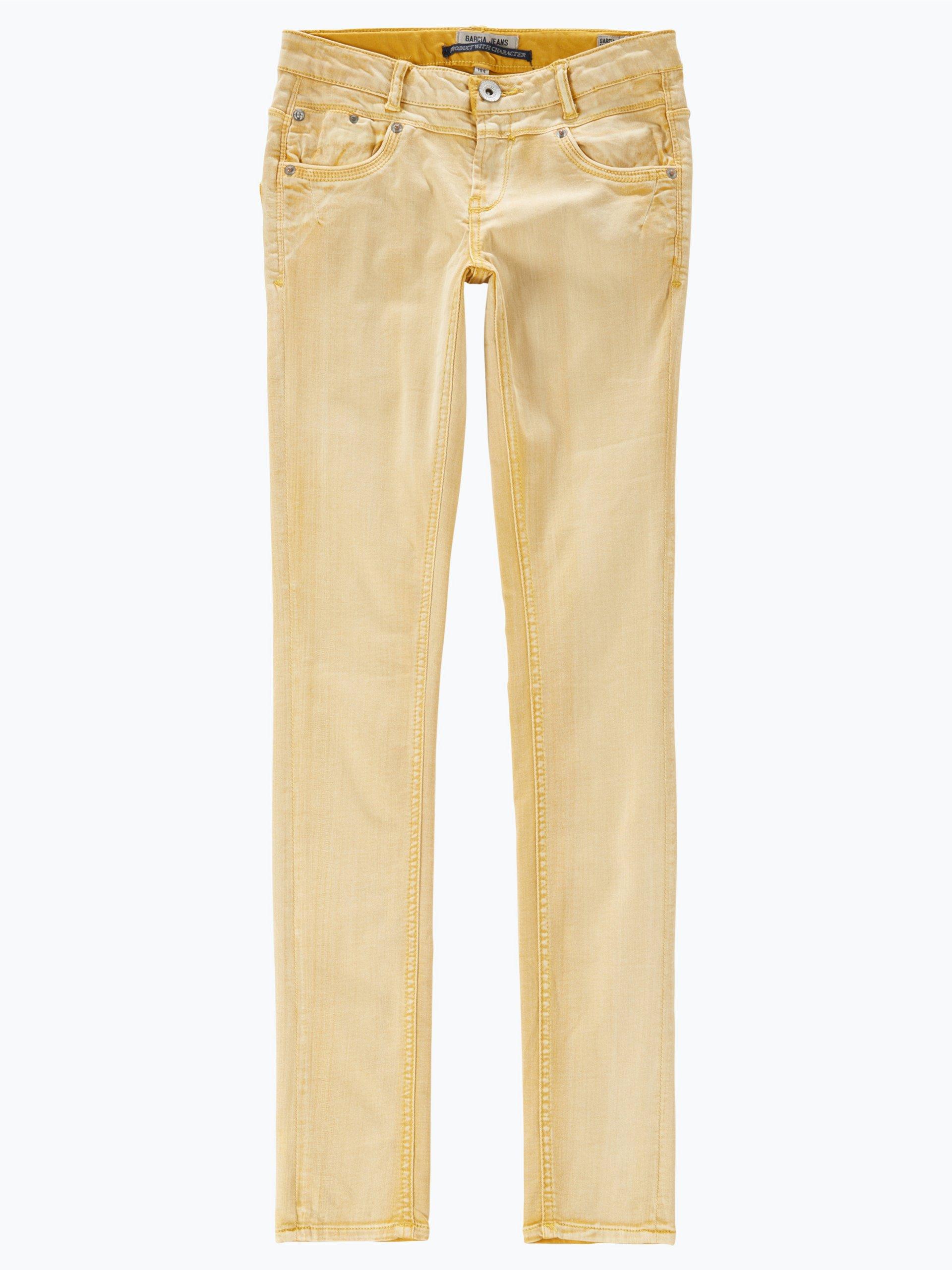 garcia m dchen jeans sara super slim gelb uni online. Black Bedroom Furniture Sets. Home Design Ideas