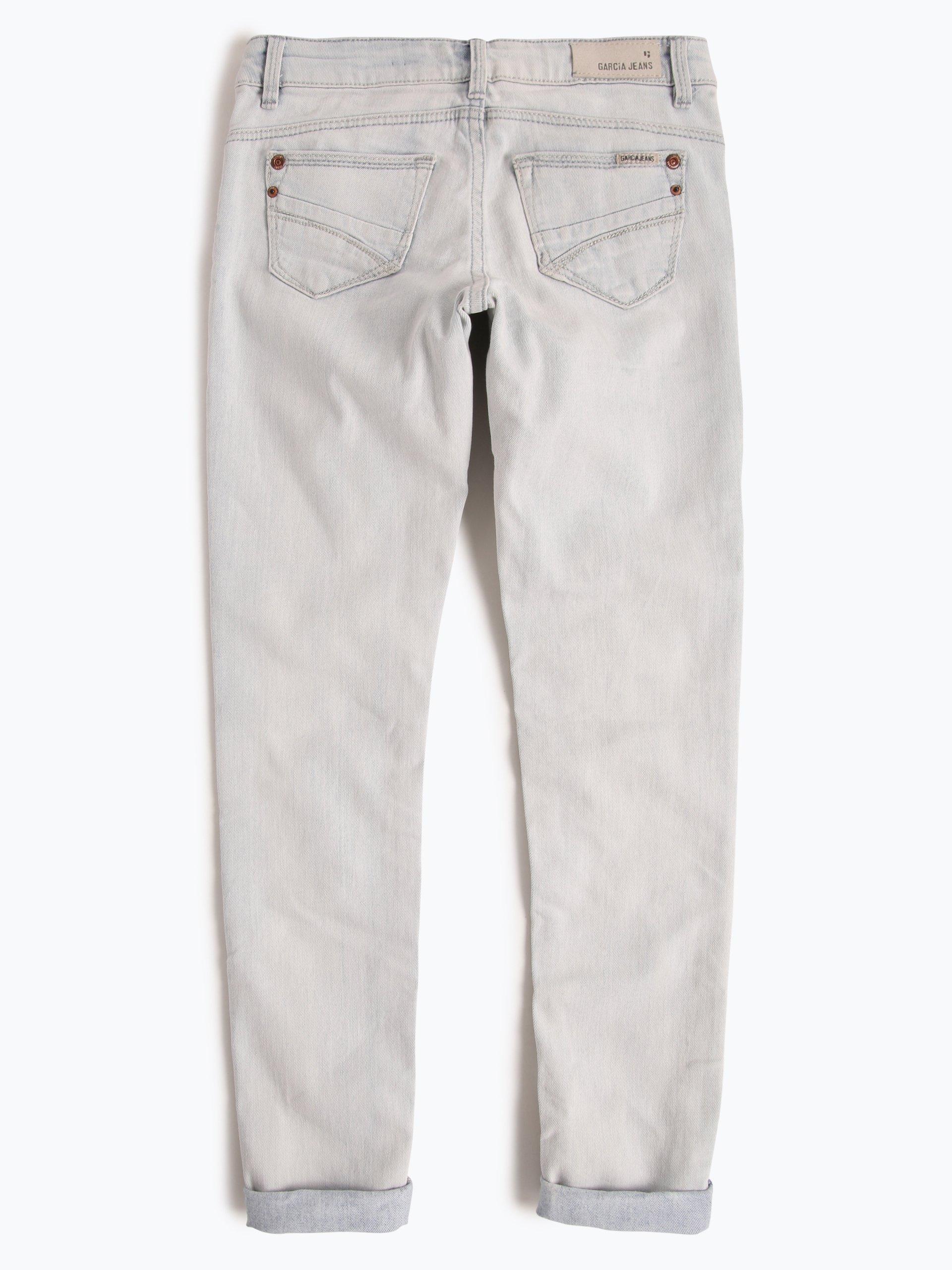 garcia m dchen jeans super slim fit sara hellblau uni. Black Bedroom Furniture Sets. Home Design Ideas