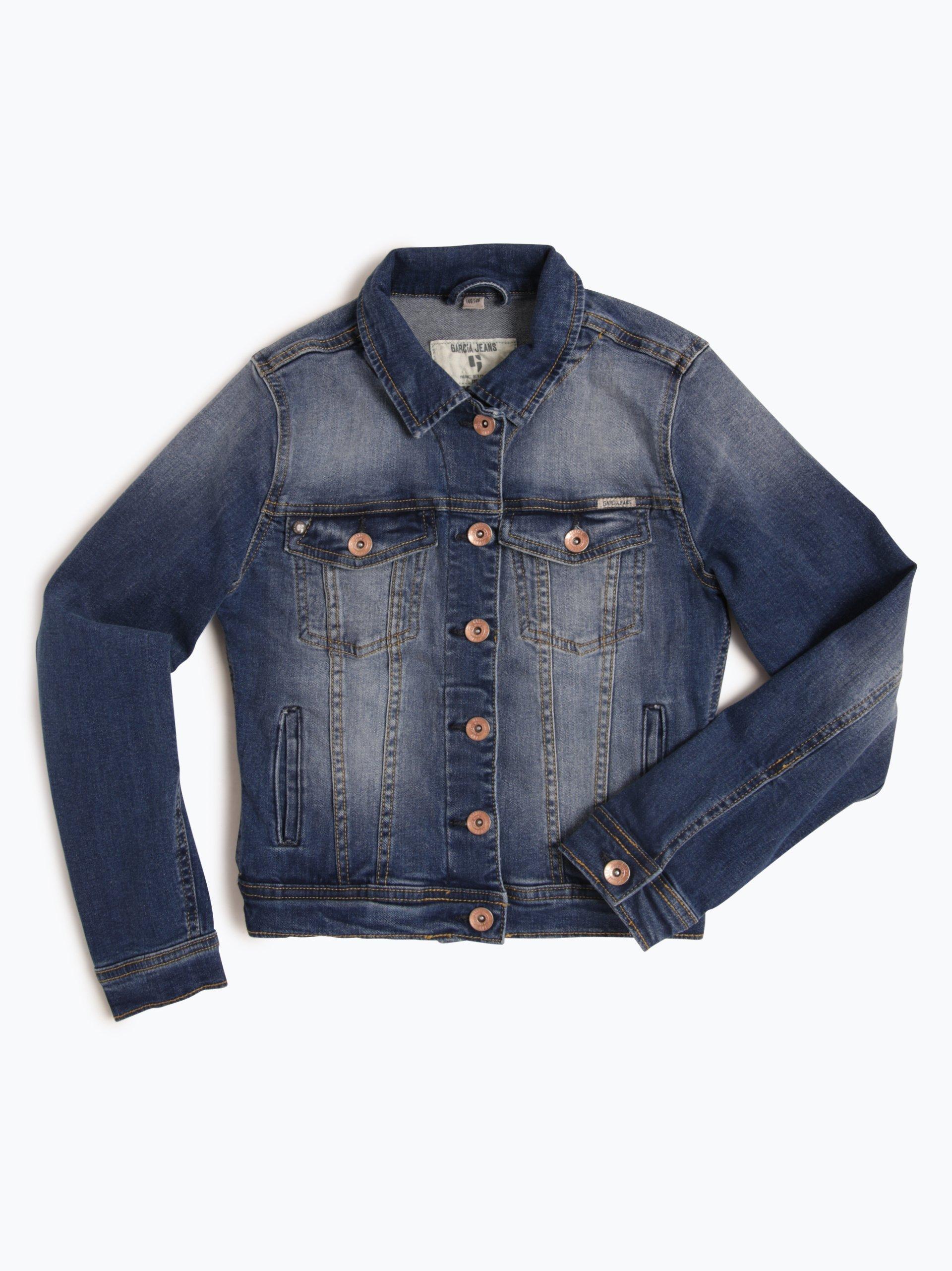 garcia m dchen jeansjacke chiara blau uni online kaufen. Black Bedroom Furniture Sets. Home Design Ideas
