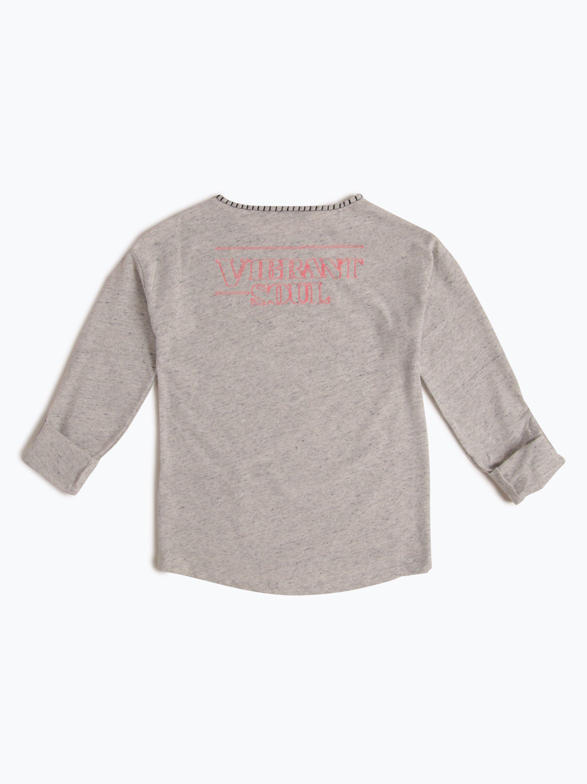 garcia m dchen langarmshirt mehrfarbig grau uni online. Black Bedroom Furniture Sets. Home Design Ideas