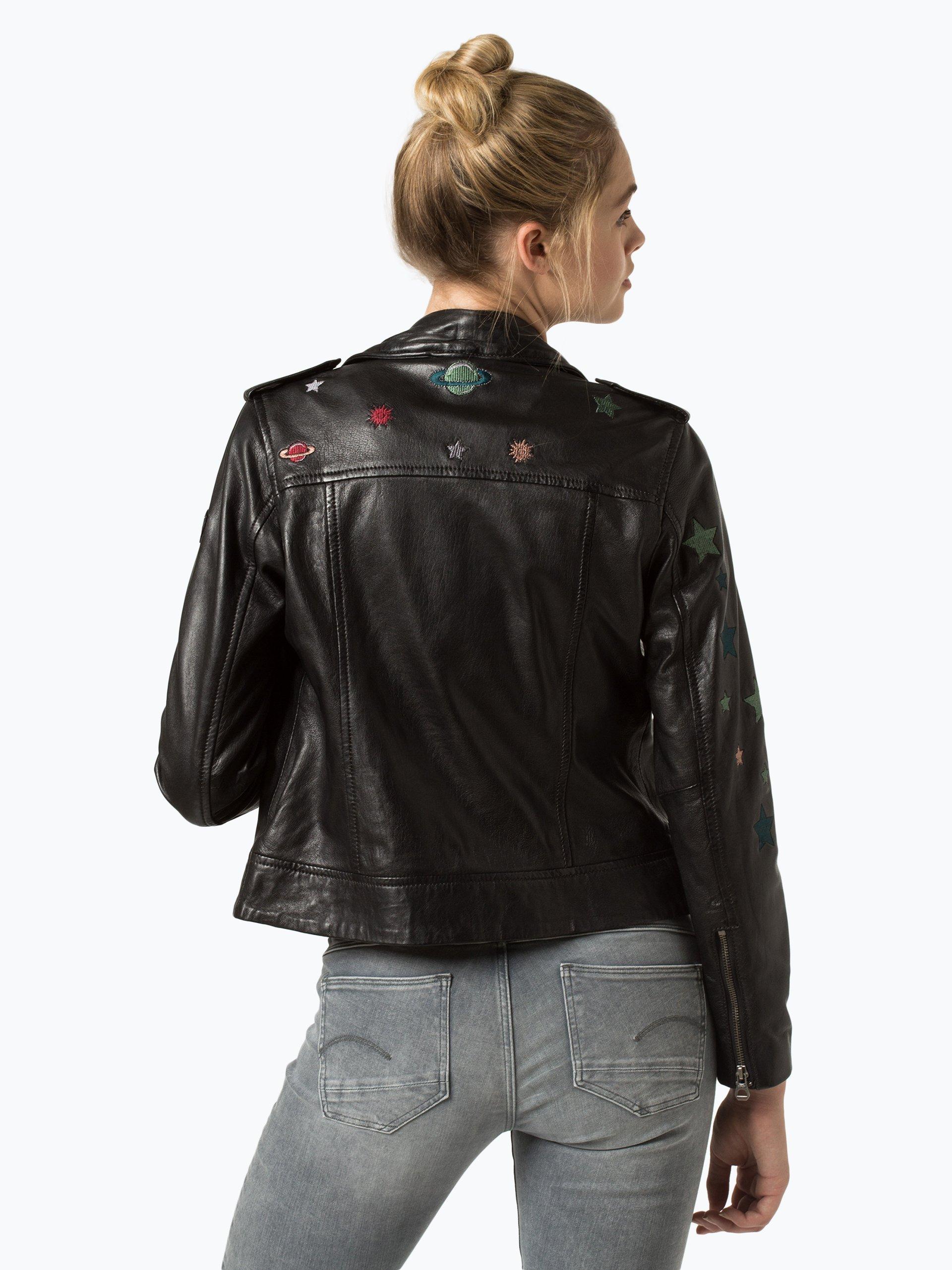 gipsy damen lederjacke spacy schwarz gemustert online kaufen vangraaf com. Black Bedroom Furniture Sets. Home Design Ideas