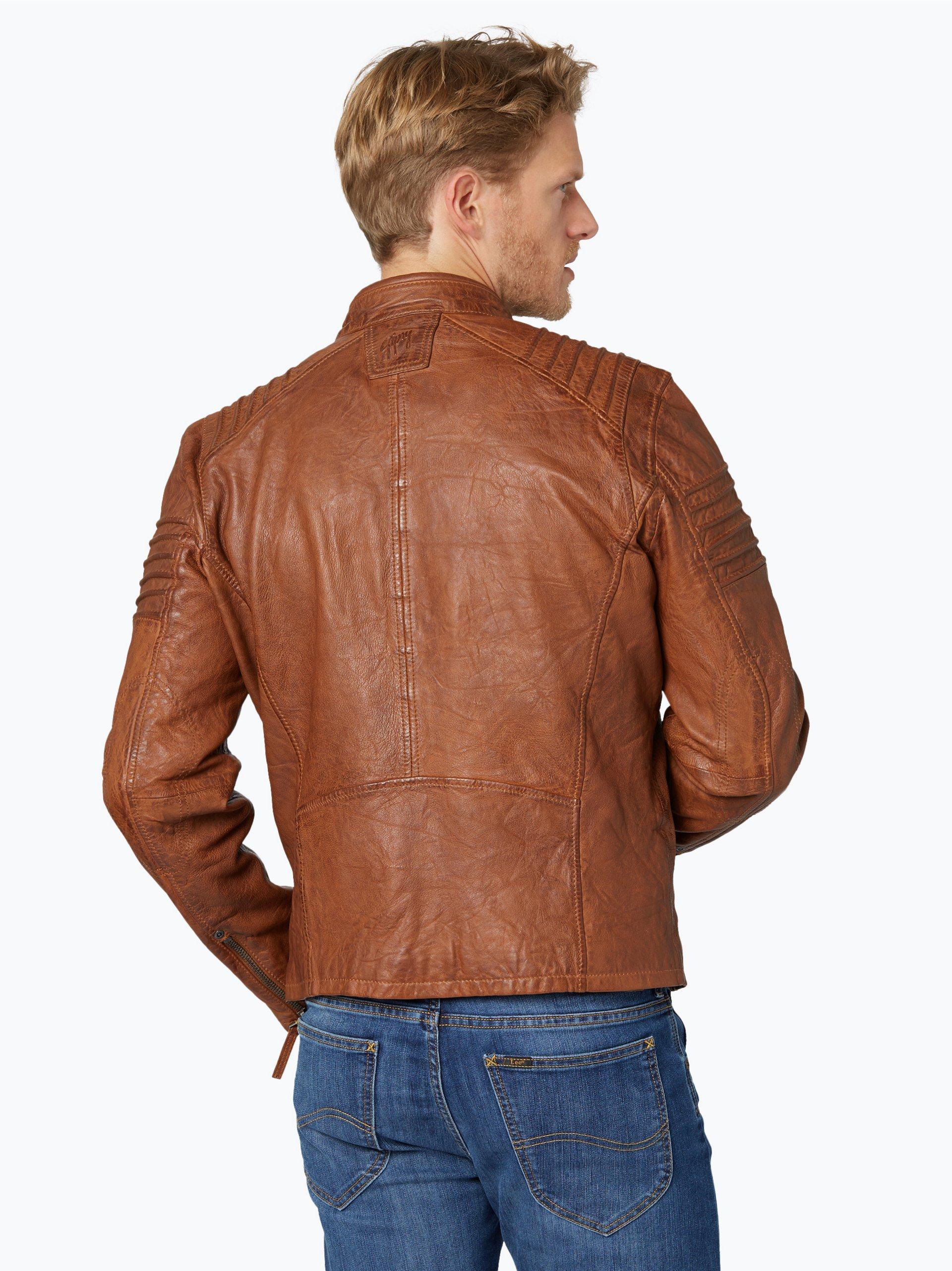 gipsy herren lederjacke copper cognac uni online kaufen vangraaf com. Black Bedroom Furniture Sets. Home Design Ideas