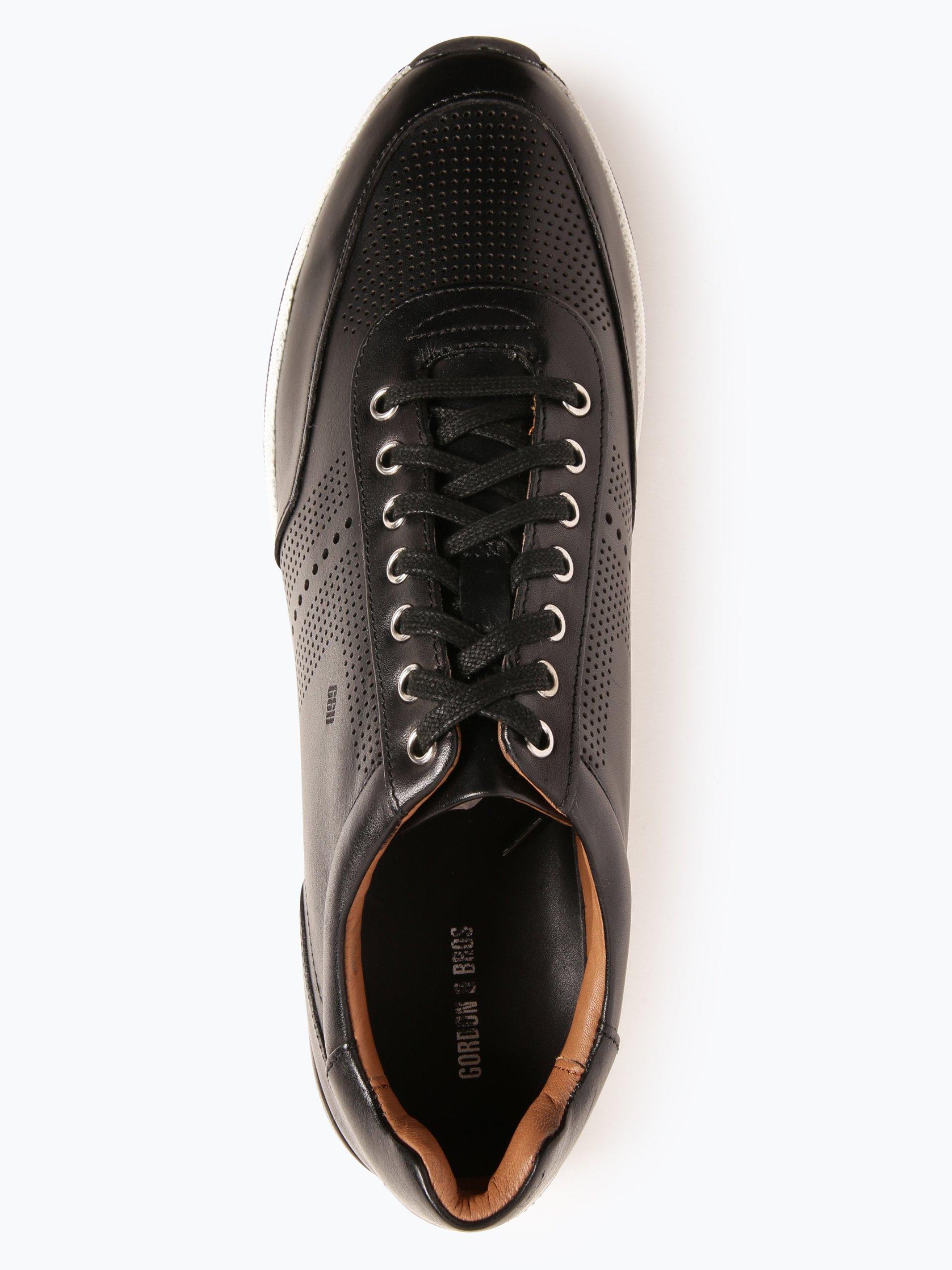 gordon bros herren sneaker aus leder new conte schwarz uni online kaufen vangraaf com. Black Bedroom Furniture Sets. Home Design Ideas