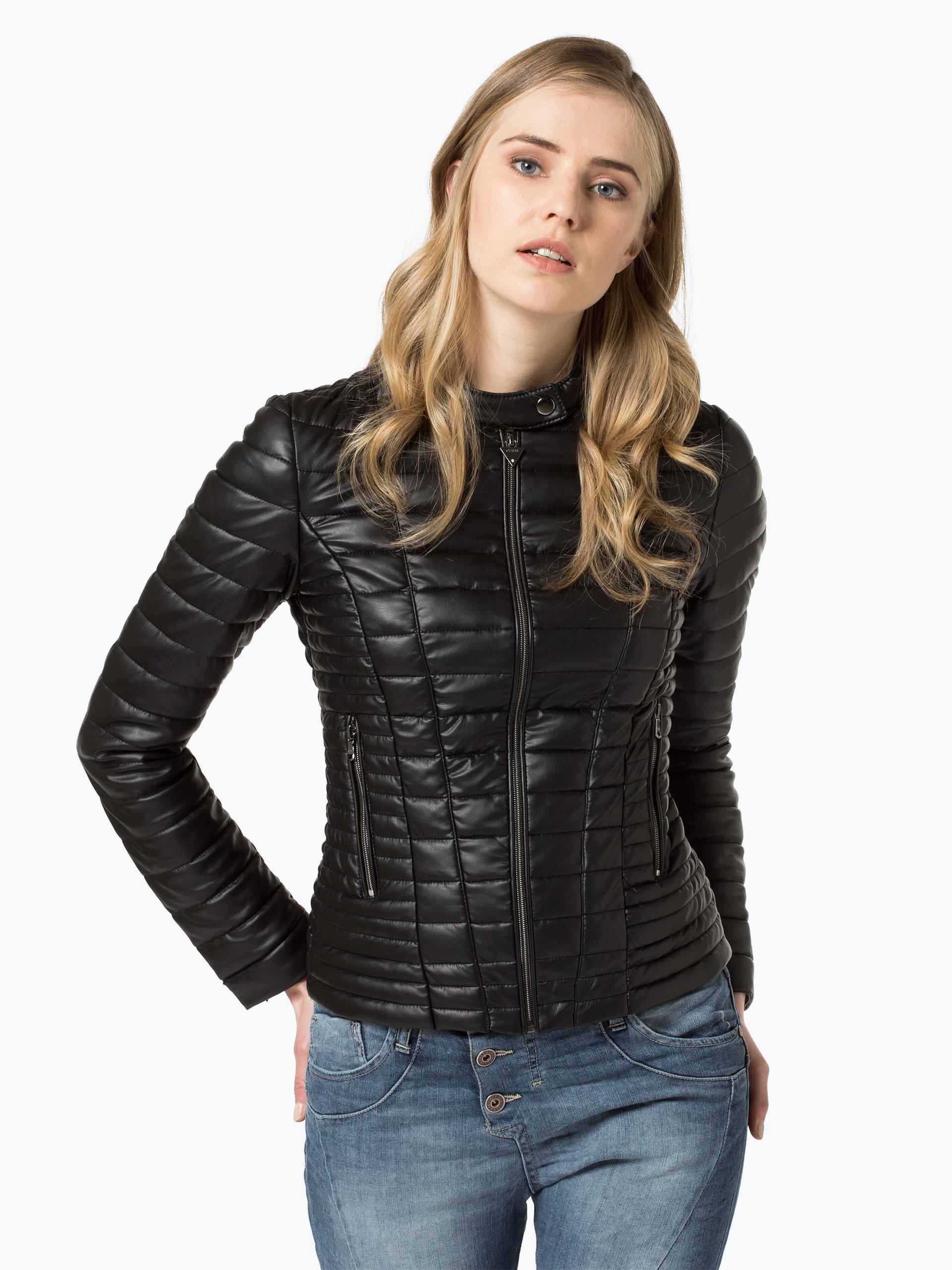 guess jeans damen jacke schwarz uni online kaufen peek. Black Bedroom Furniture Sets. Home Design Ideas