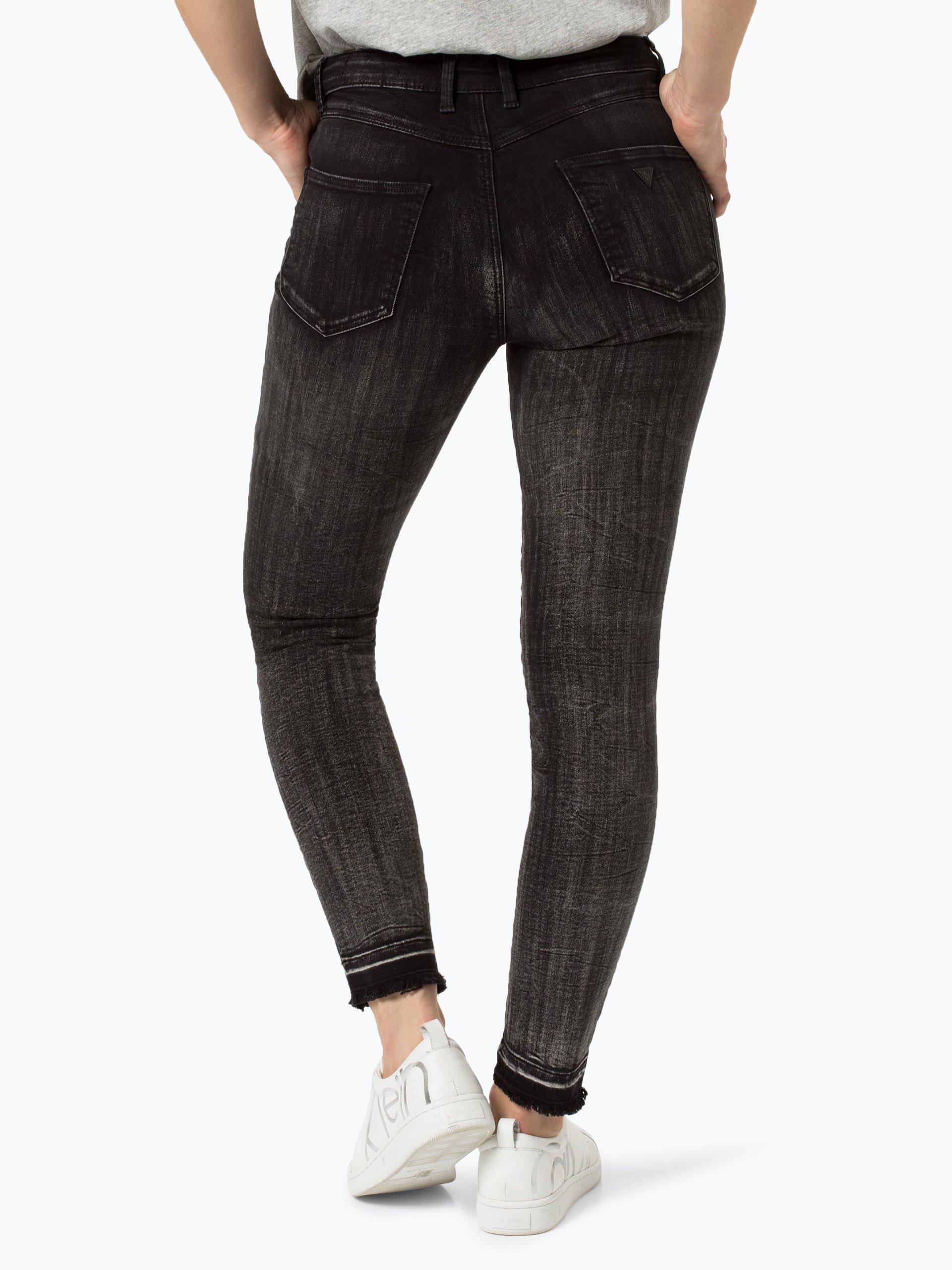 guess jeans damen jeans grau uni online kaufen vangraaf com. Black Bedroom Furniture Sets. Home Design Ideas