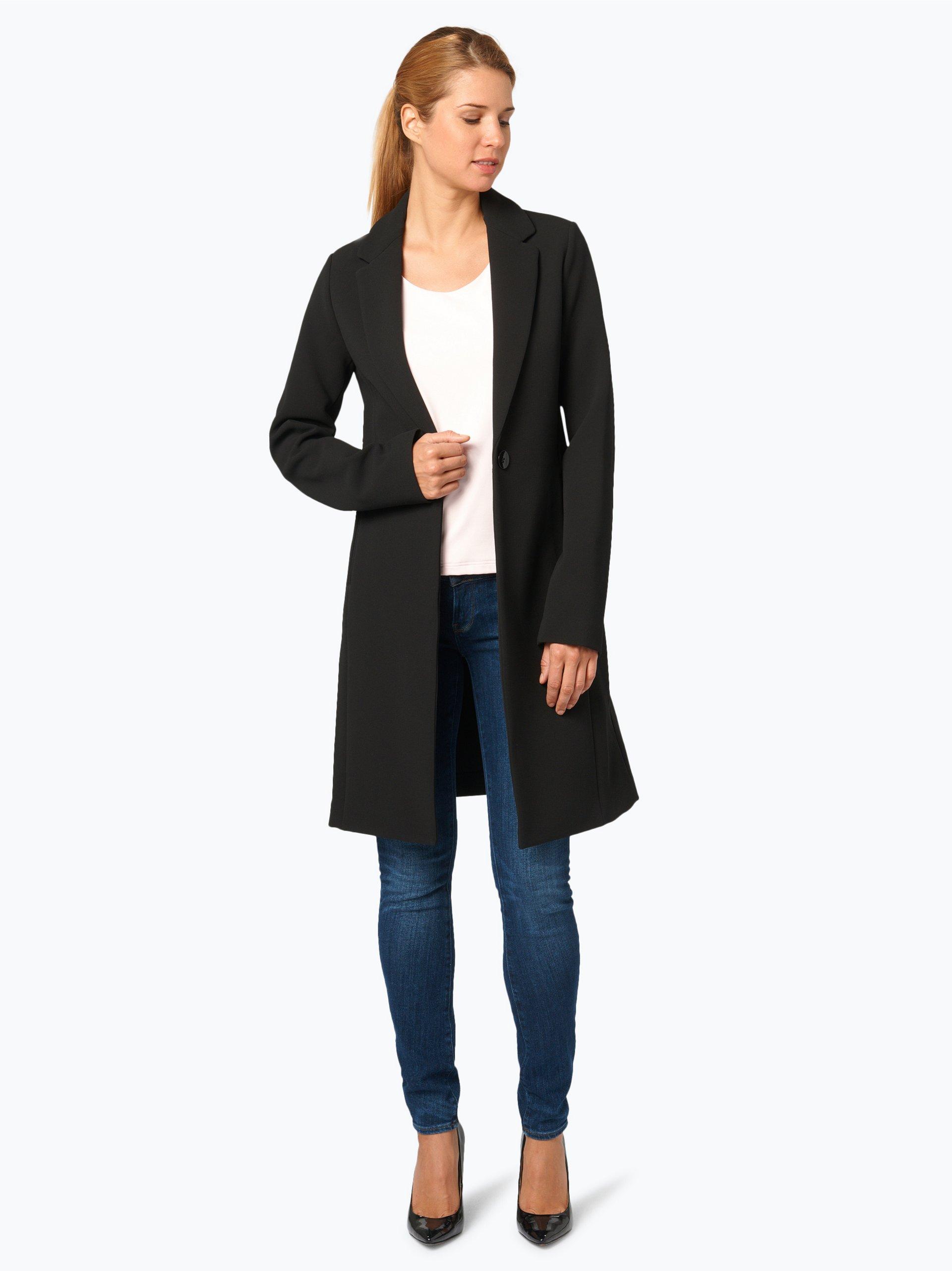 guess jeans damen mantel schwarz uni online kaufen. Black Bedroom Furniture Sets. Home Design Ideas