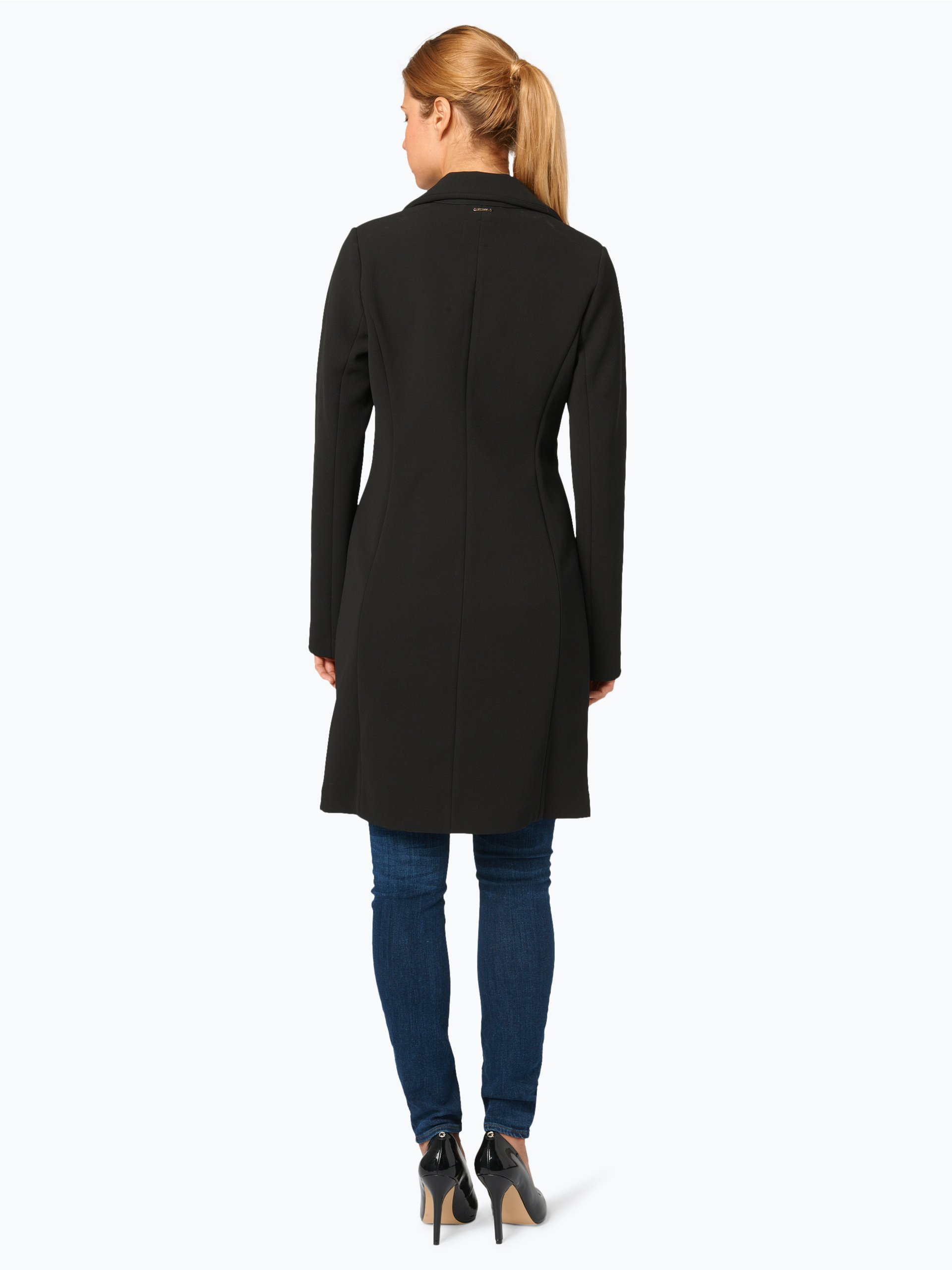 guess jeans damen mantel schwarz uni online kaufen peek. Black Bedroom Furniture Sets. Home Design Ideas