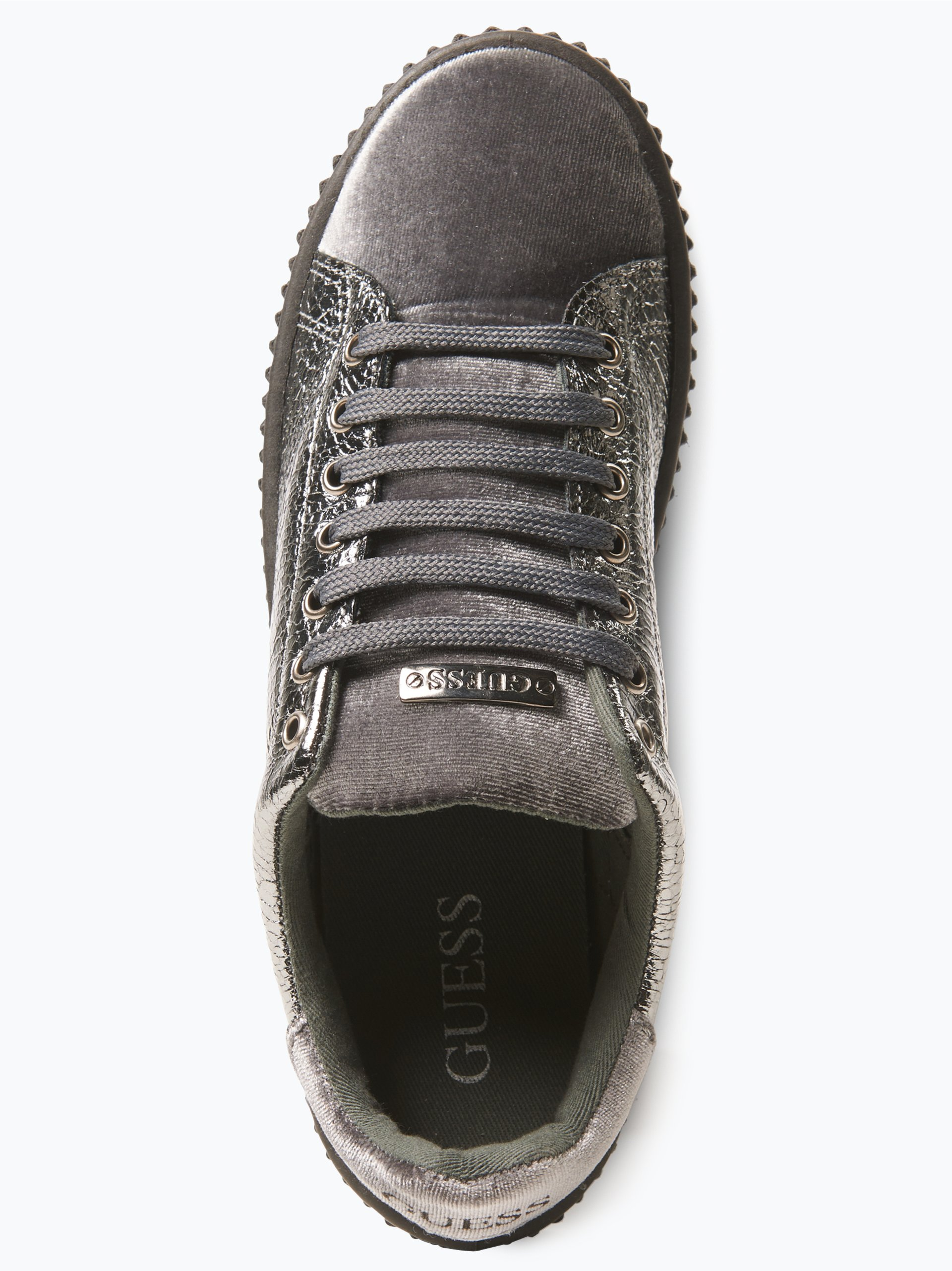 guess jeans damen sneaker grau uni online kaufen vangraaf com. Black Bedroom Furniture Sets. Home Design Ideas