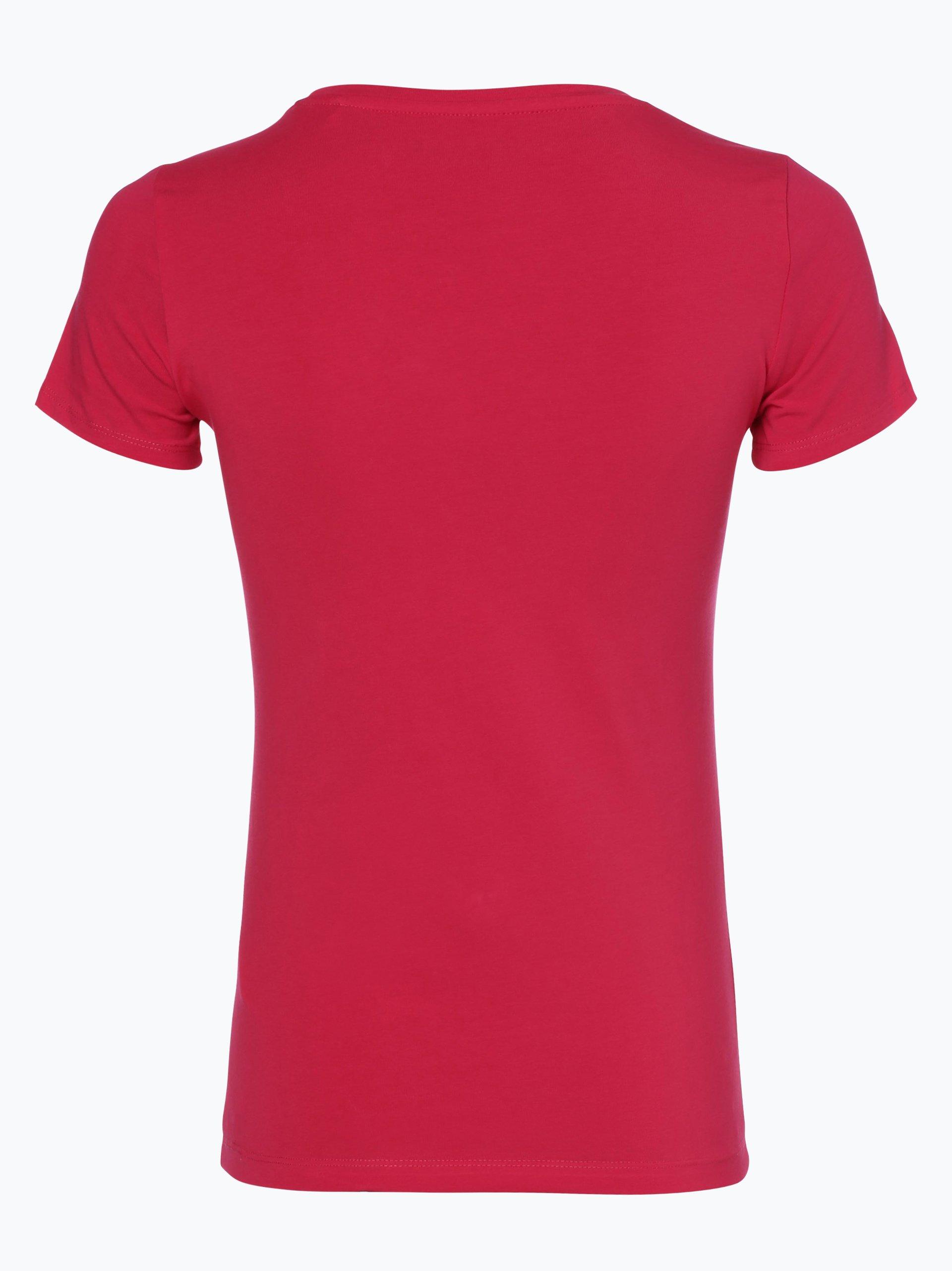 guess jeans damen t shirt pink gemustert online kaufen. Black Bedroom Furniture Sets. Home Design Ideas