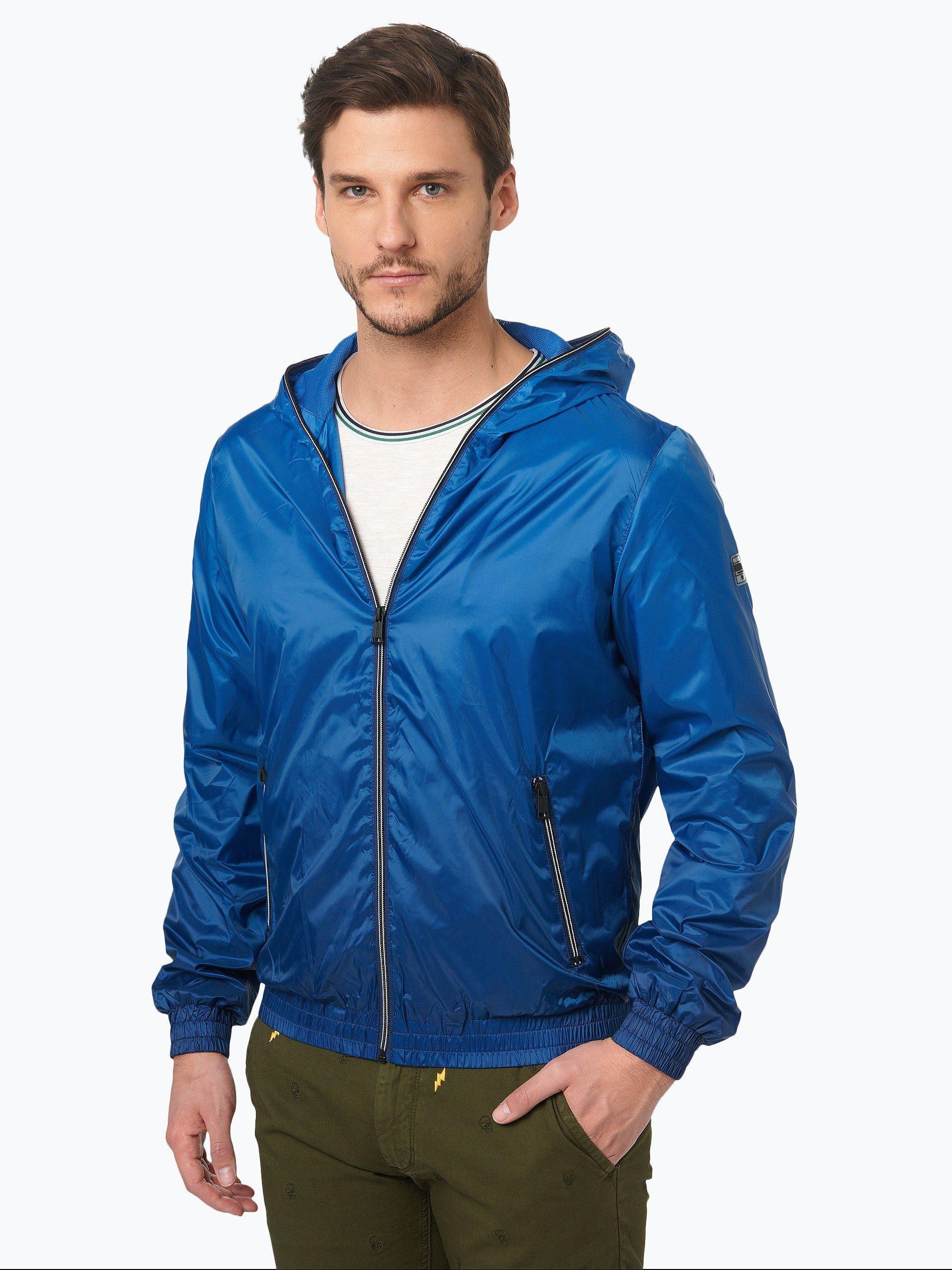guess jeans herren jacke marine uni online kaufen peek