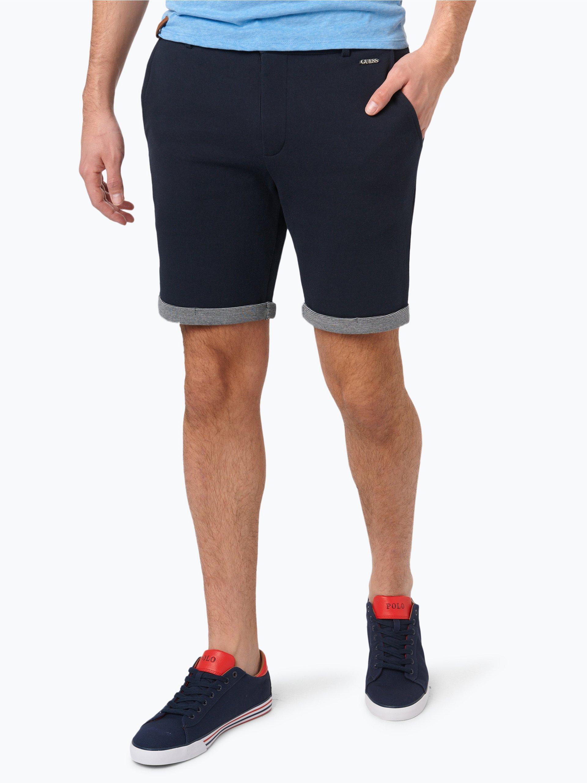 guess jeans herren shorts marine uni online kaufen vangraaf com. Black Bedroom Furniture Sets. Home Design Ideas