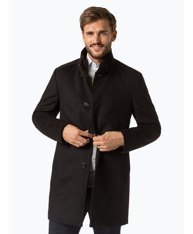 Herren Mantel mit Cashmere-Anteil - Maron