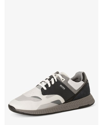 Herren Sneaker mit Leder-Anteil - Titanium