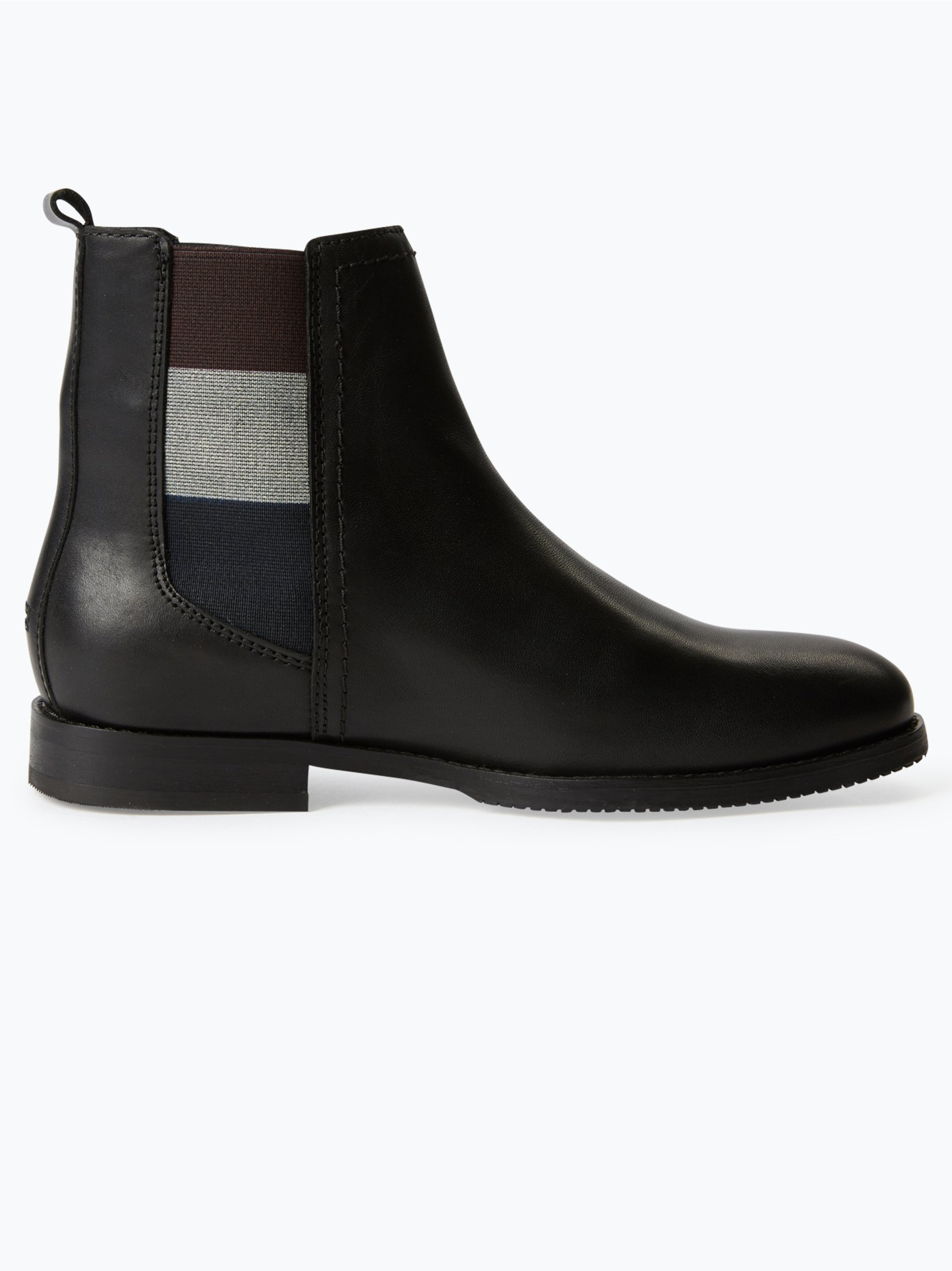 hilfiger denim damen chelsea boots aus leder schwarz uni online kaufen peek und cloppenburg de. Black Bedroom Furniture Sets. Home Design Ideas