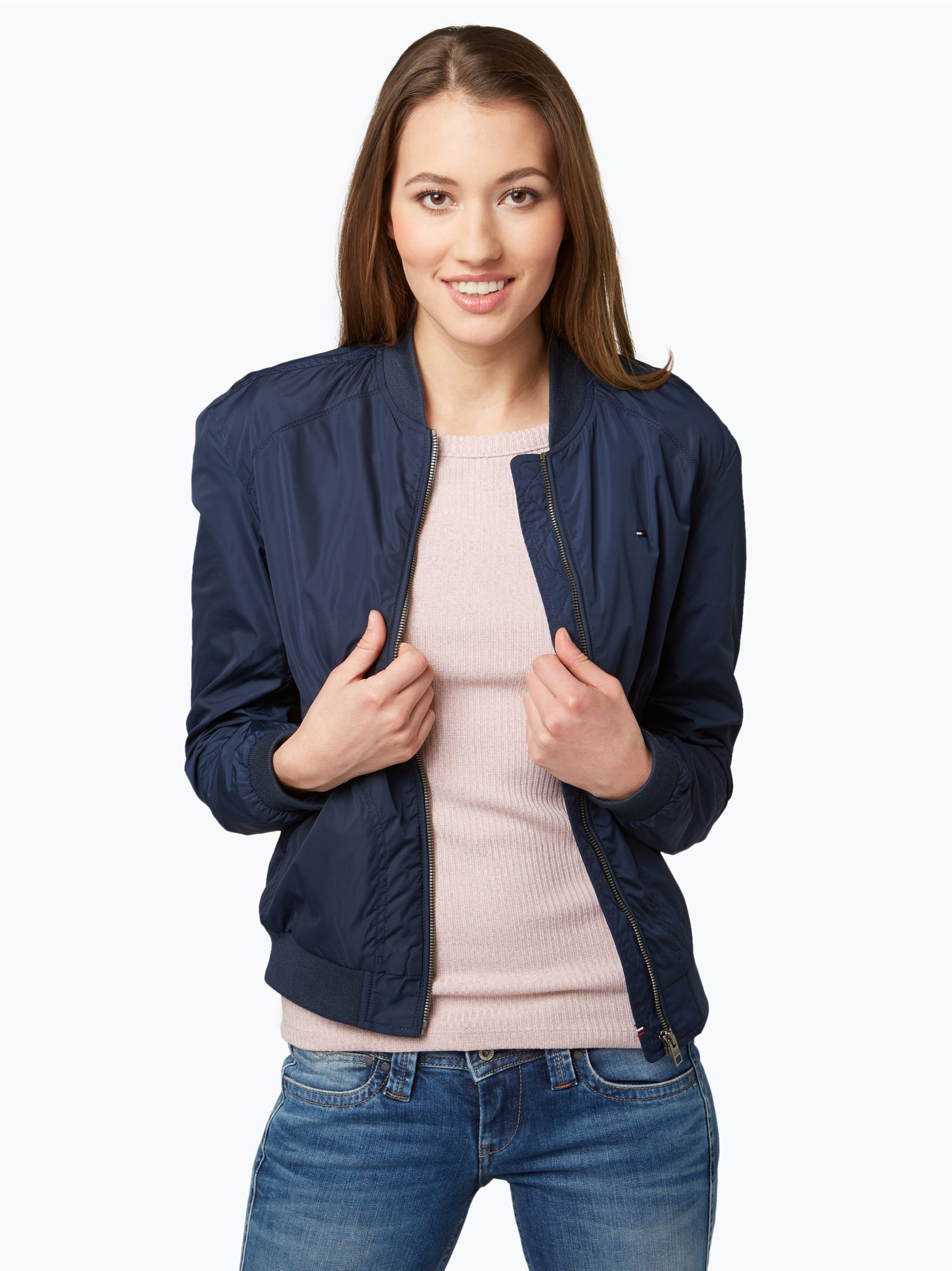hilfiger denim damen jacke marine uni online kaufen. Black Bedroom Furniture Sets. Home Design Ideas