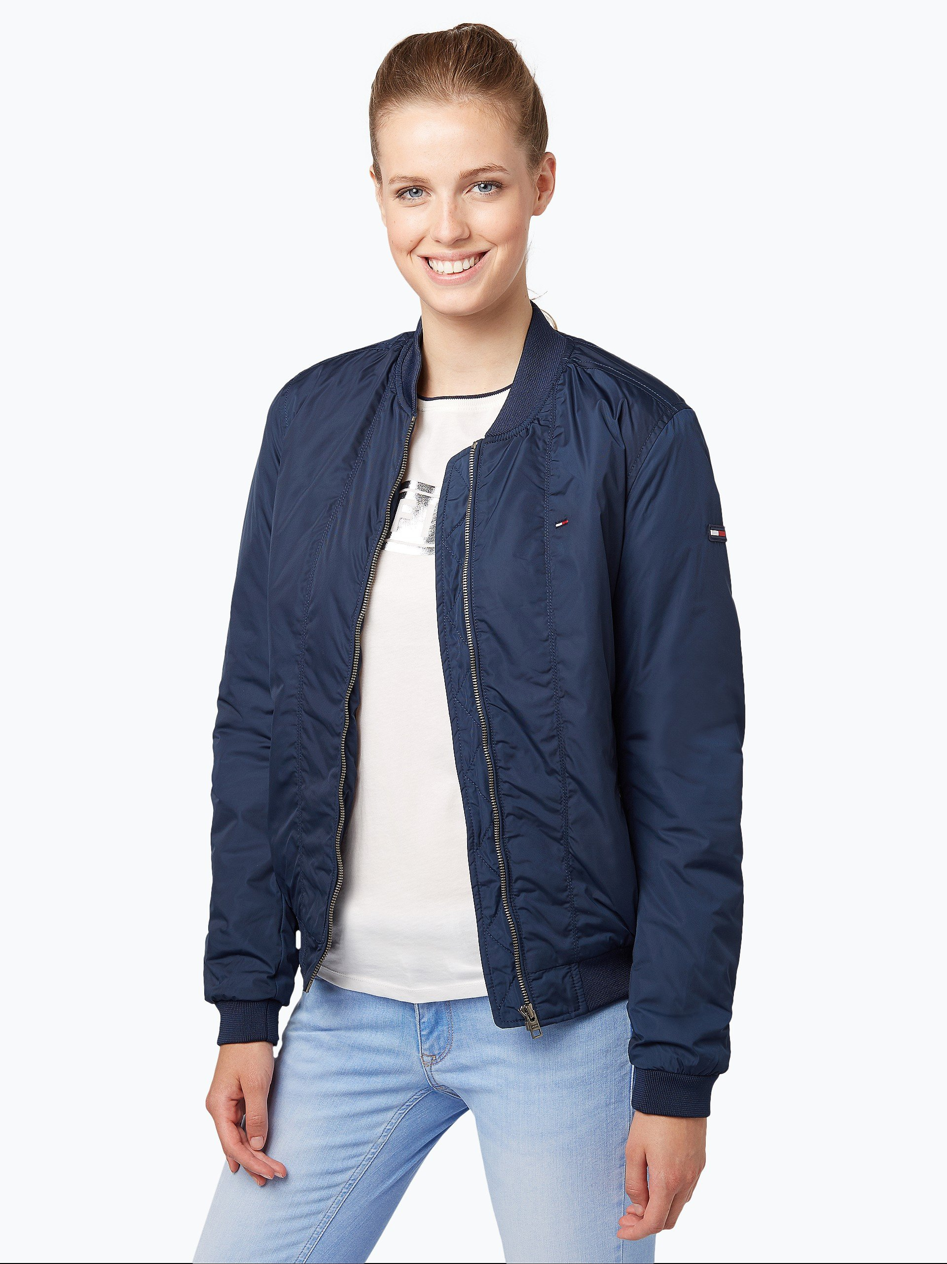 hilfiger denim damen jacke marine uni online kaufen peek. Black Bedroom Furniture Sets. Home Design Ideas