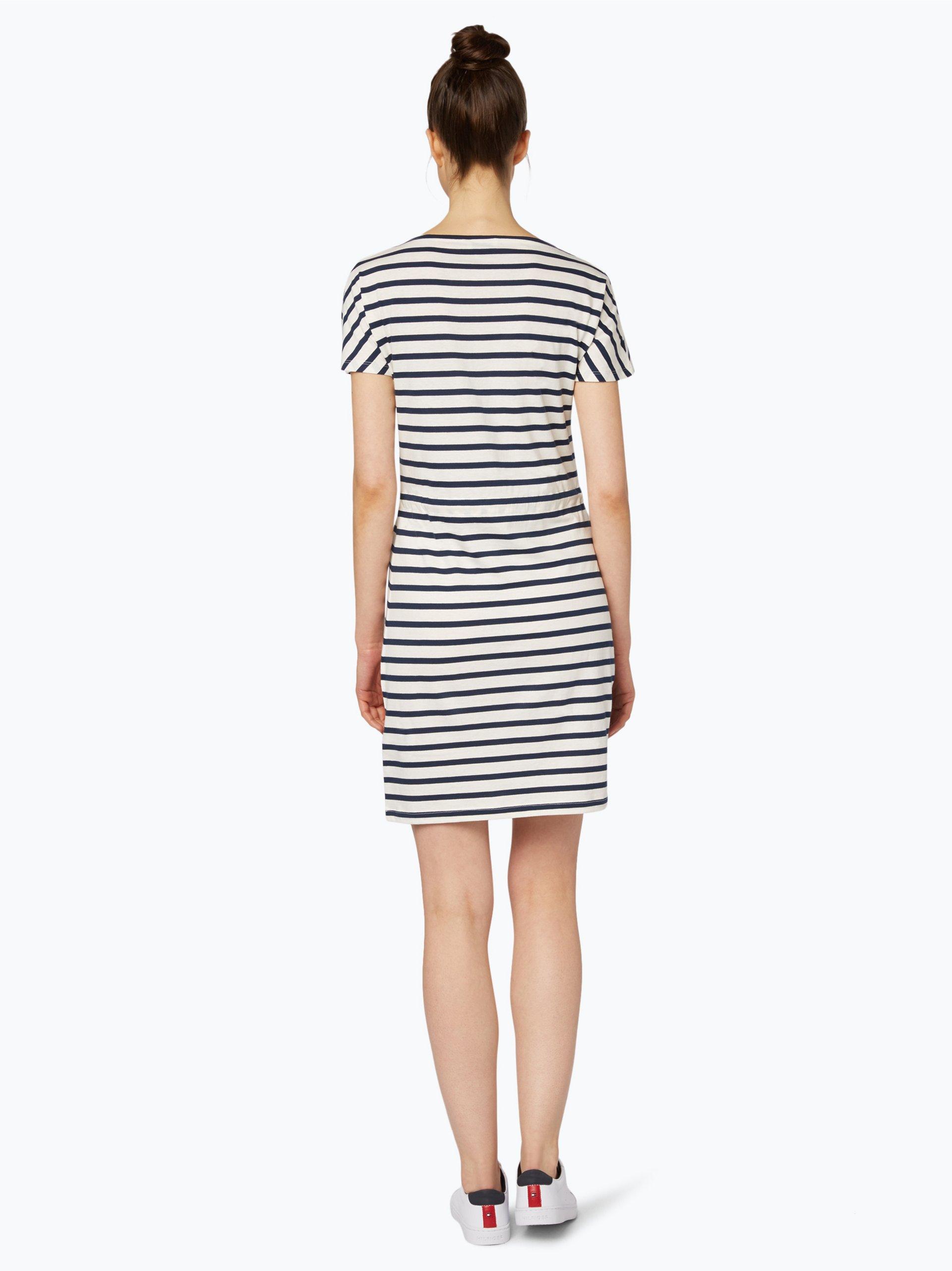 hilfiger denim damen kleid wei gestreift online kaufen vangraaf com. Black Bedroom Furniture Sets. Home Design Ideas