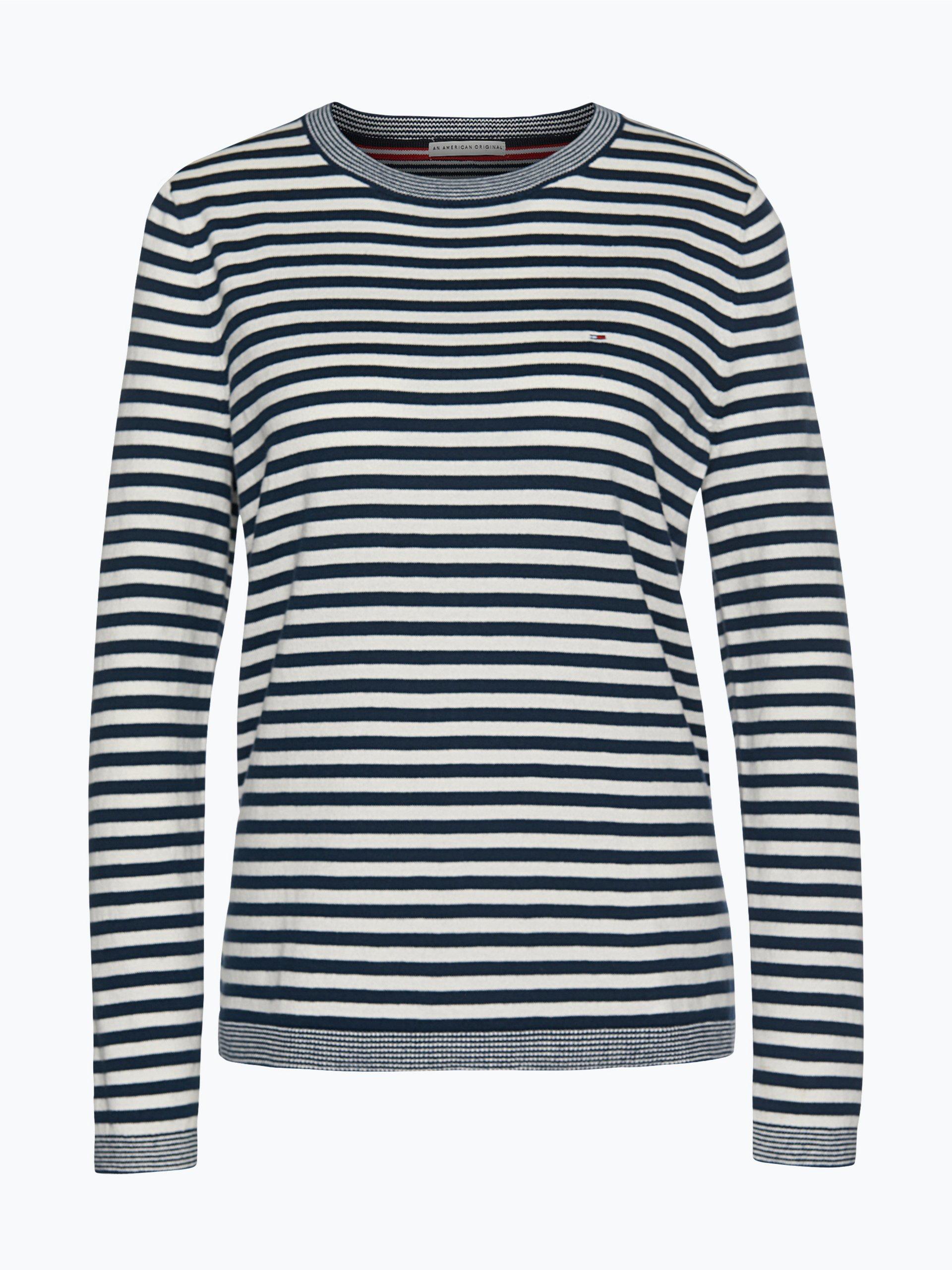 hilfiger denim damen pullover blau gestreift online kaufen. Black Bedroom Furniture Sets. Home Design Ideas