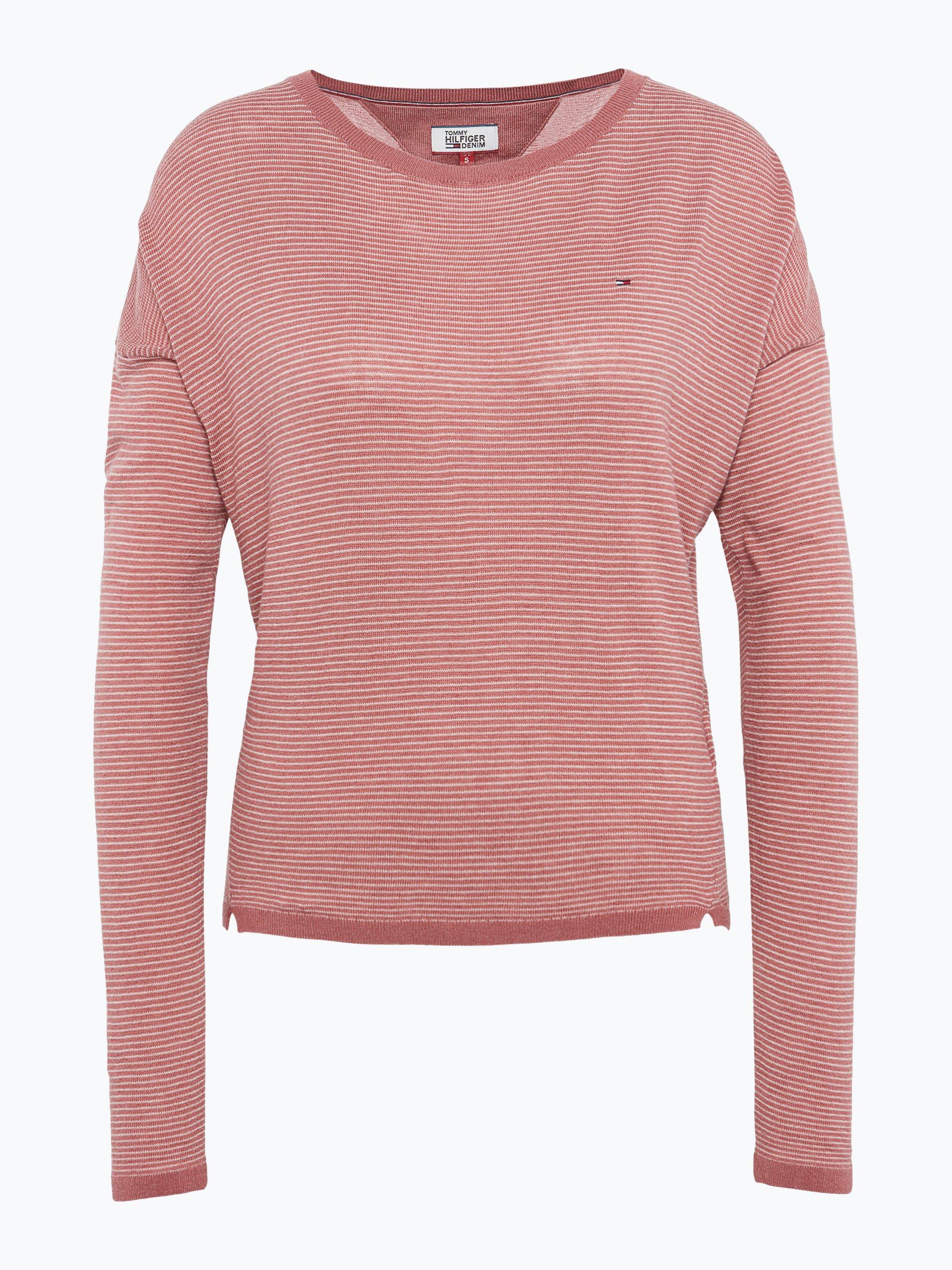 hilfiger denim damen pullover rosa gestreift online kaufen. Black Bedroom Furniture Sets. Home Design Ideas