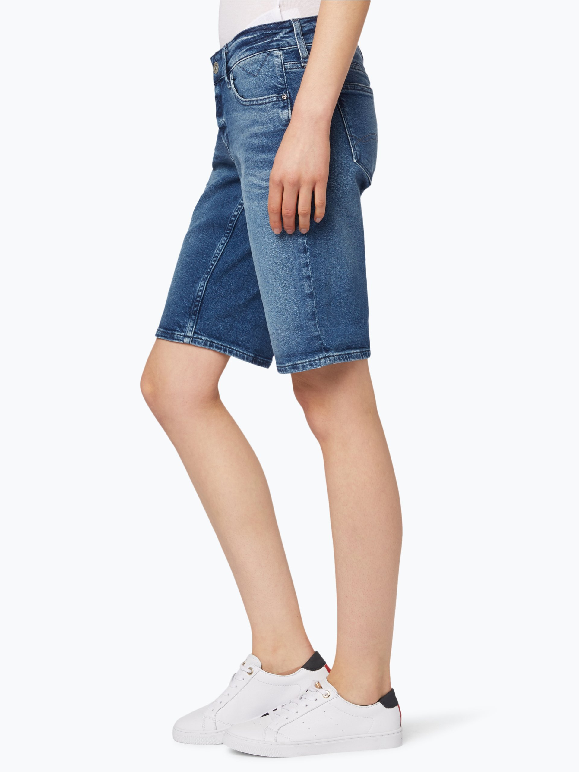 hilfiger denim damen shorts blau uni online kaufen peek und cloppenburg de. Black Bedroom Furniture Sets. Home Design Ideas